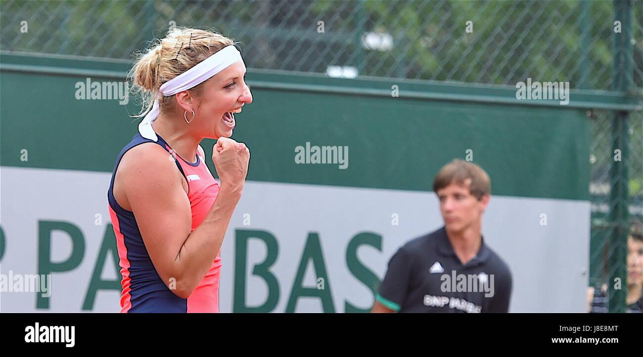 Tennis, Paris, 28.05.2017, Roland Garros, first turn French Open 2017, Timea Bacsinszky (SUI)  Photo: Cronos/Frederic - Stock Image