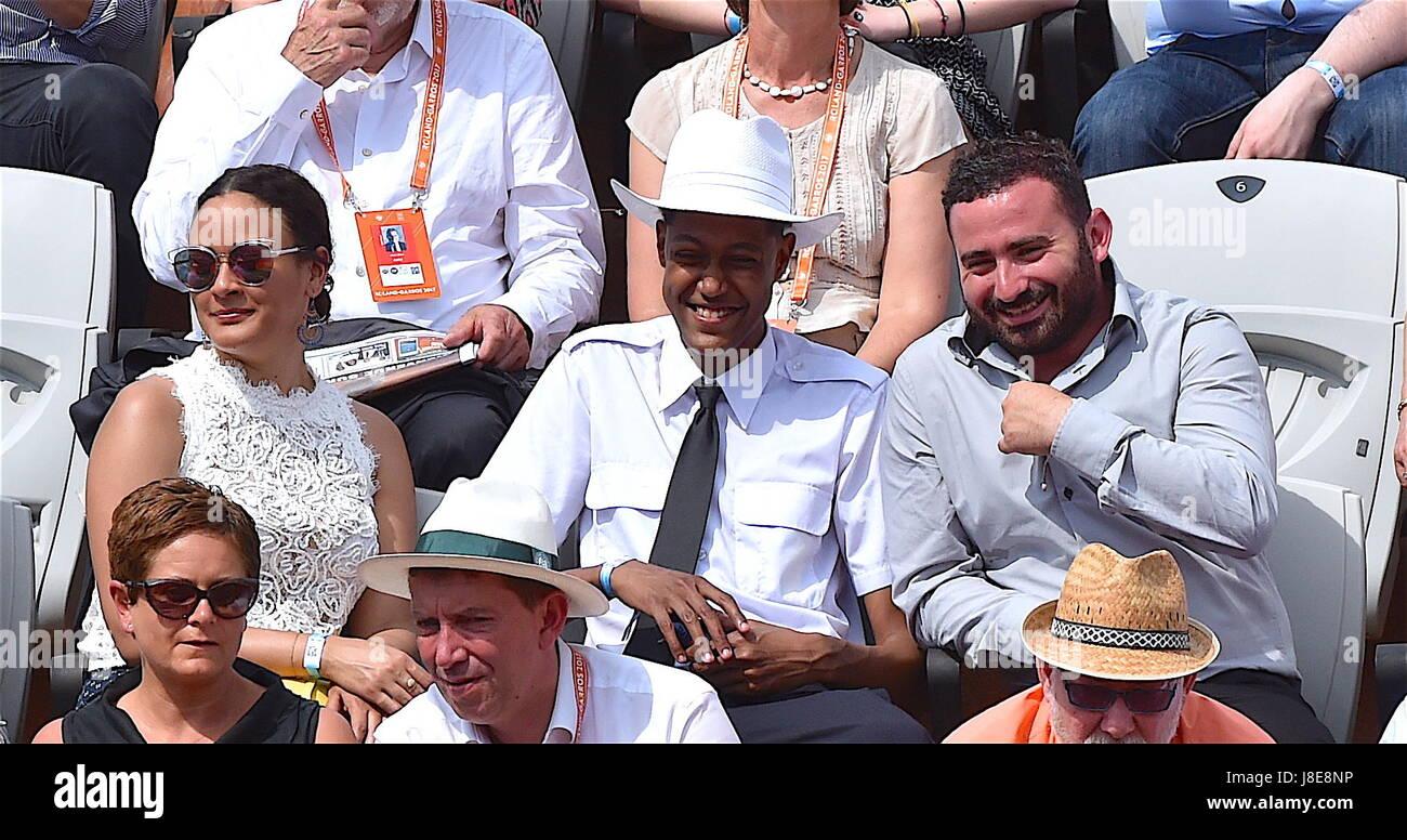 Tennis, Paris, 28.05.2017, Roland Garros, first turn French Open 2017, Cyrille Hanouna star presenter on C8  Photo: - Stock Image