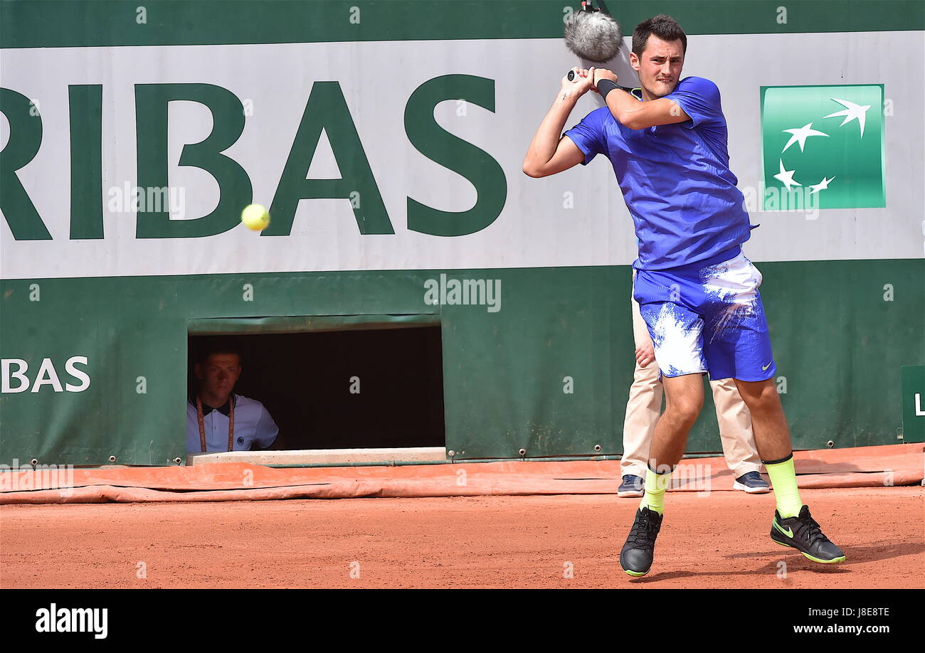 Tennis, Paris, 28.05.2017, Roland Garros, first turn French Open 2017, Bernard Tomic (AUS) Photo: Cronos/Frederic Dubuis Stock Photo