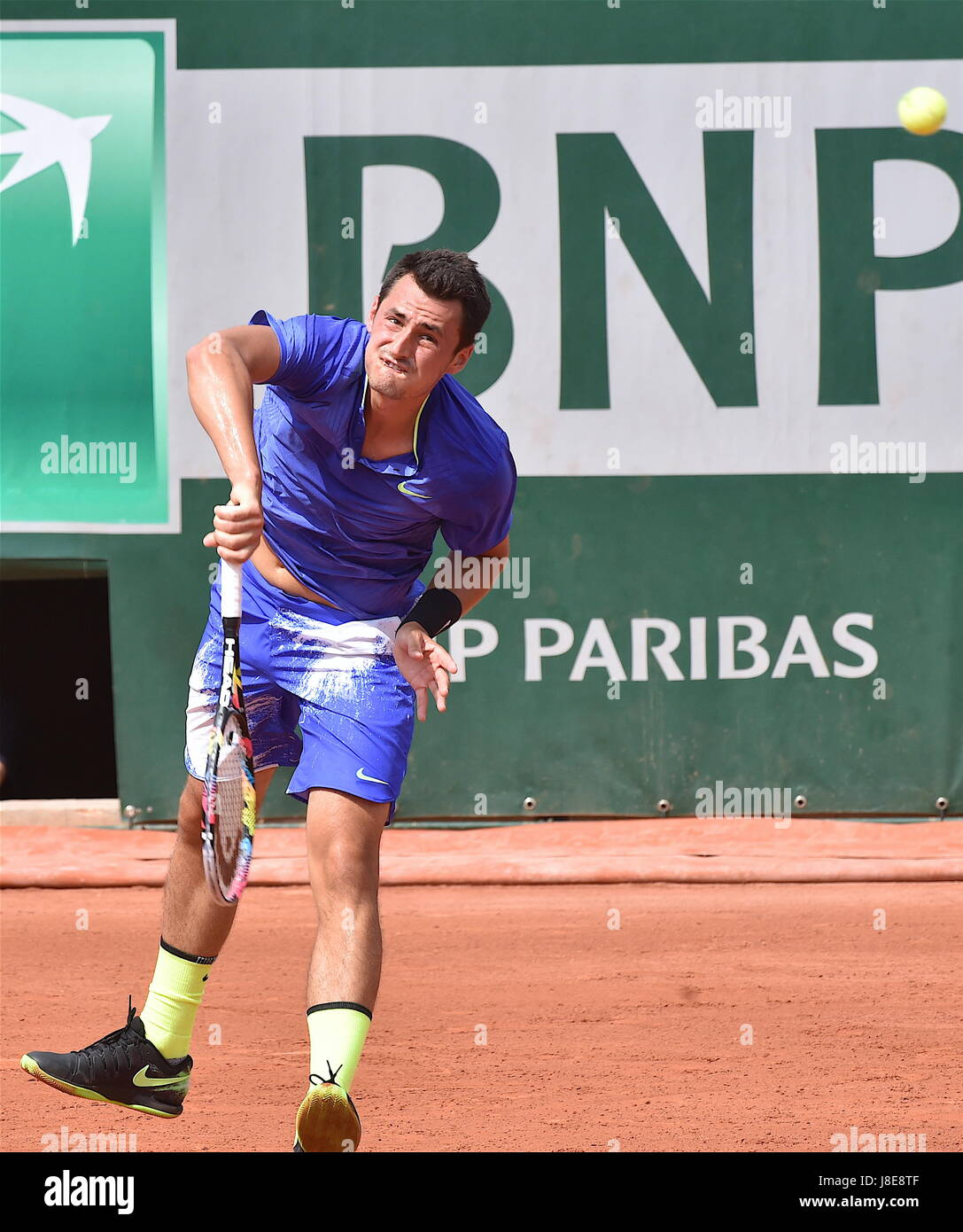 Tennis, Paris, 28.05.2017, Roland Garros, first turn French Open 2017, Bernard Tomic (AUS) Photo: Cronos/Frederic - Stock Image