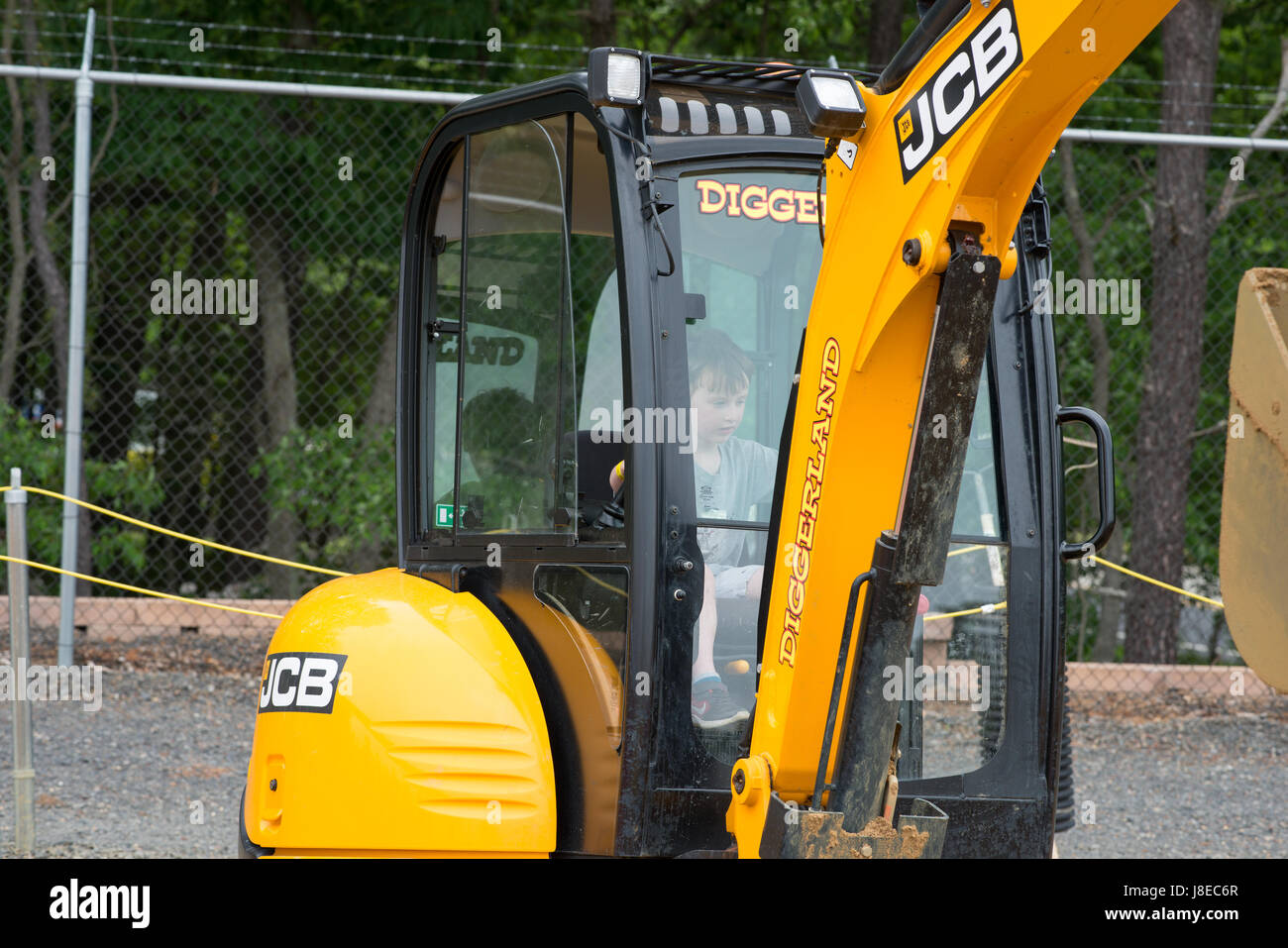 West Berlin, New Jersey, USA. 28th May, 2017. Diggerland USA, the only construction themed adventure park in North - Stock Image