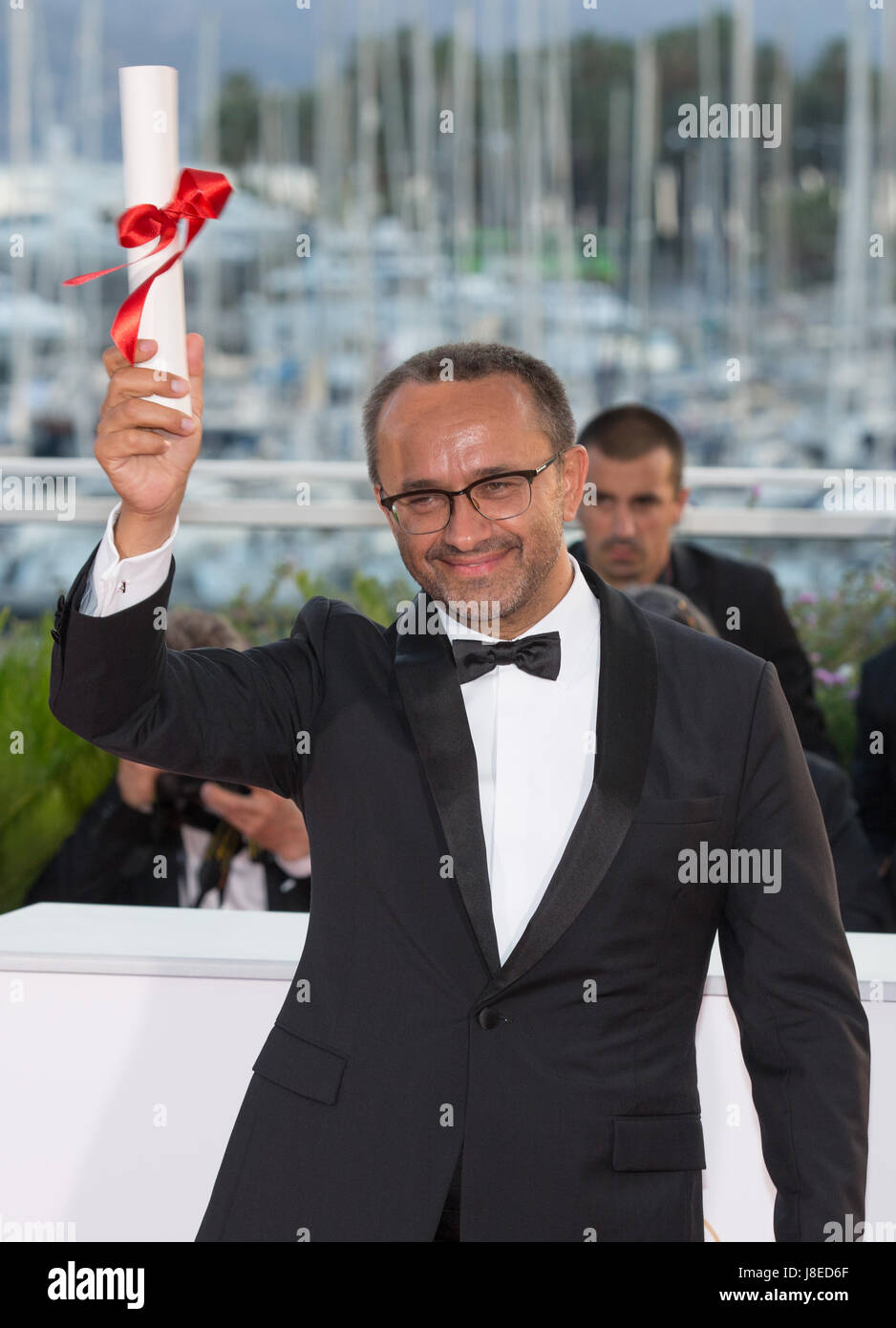 Cannes, France. 28th May, 2017. Director Andrey Zvyagintsev for the film 'Loveless', which won the Jury - Stock Image