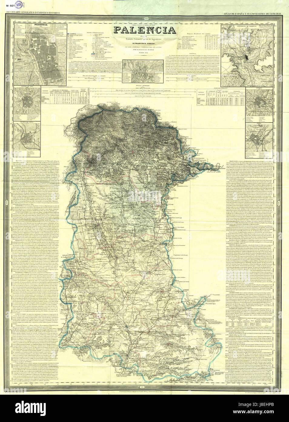 Provincia De Palencia Mapa.Mapa De La Provincia De Palencia 1852 Por Francisco