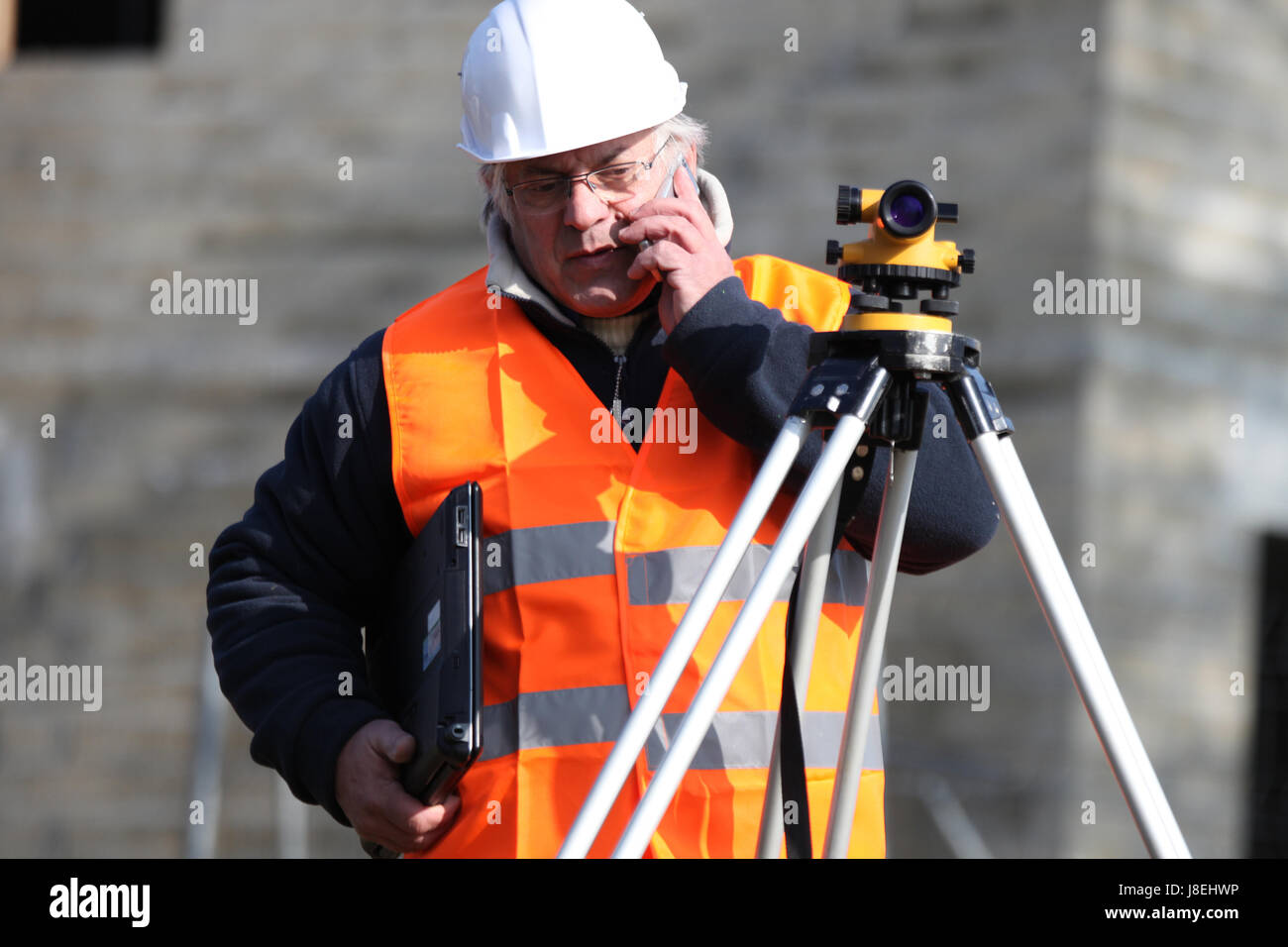 accuracy, cartography, supplier, contractor, builder, construction, lens, - Stock Image
