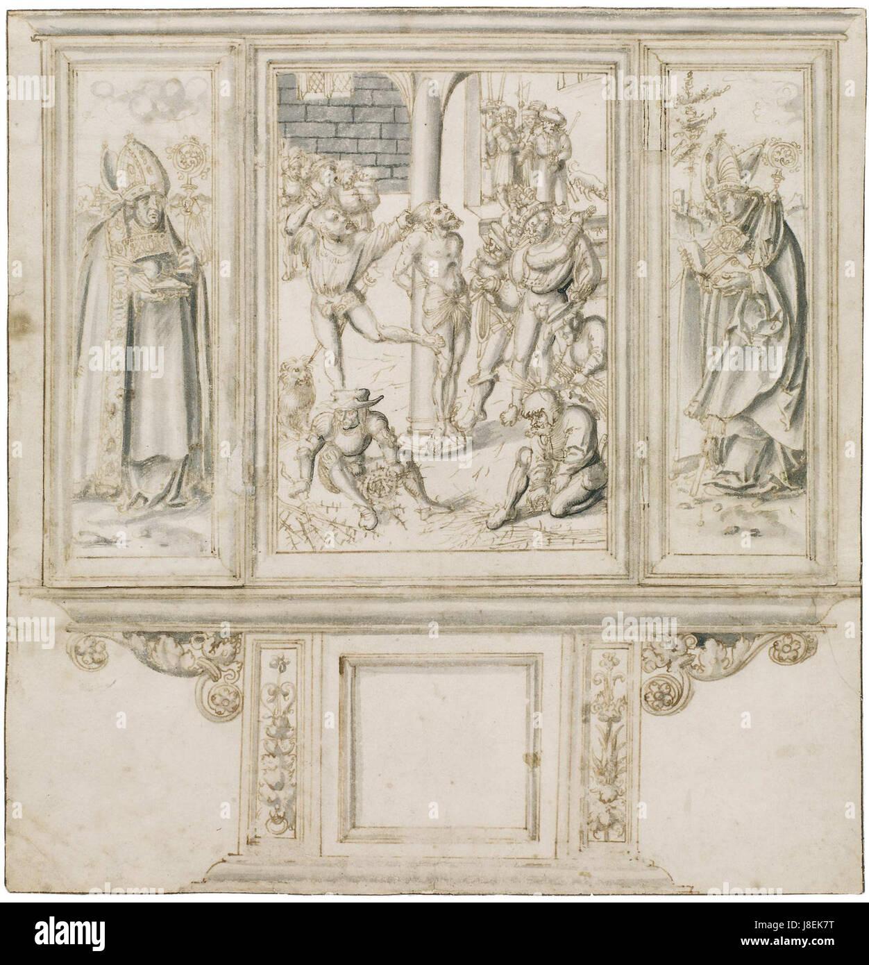 Lucas Cranach altar sketch - Stock Image