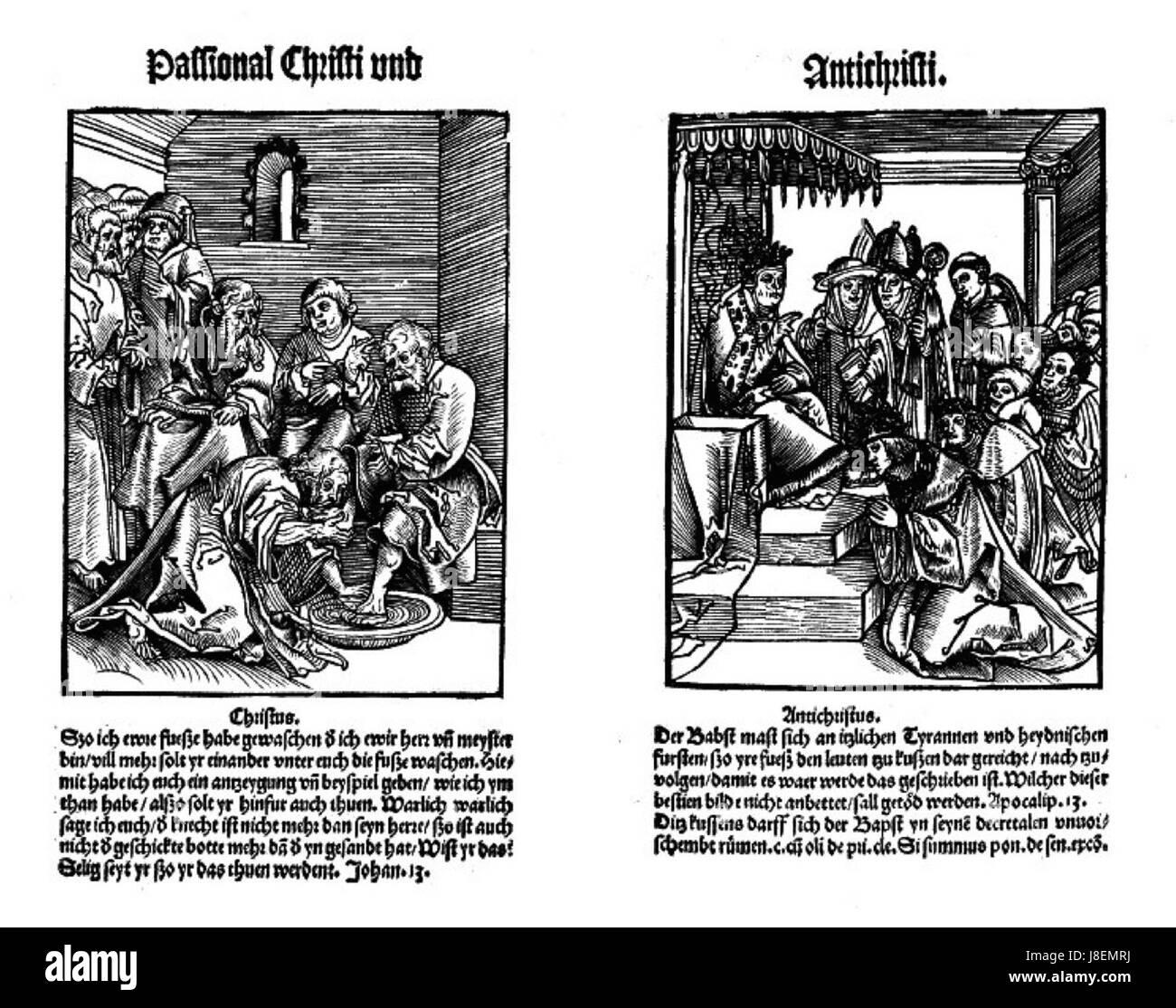 Lucas Cranach (I) Le lavement des pieds - Stock Image