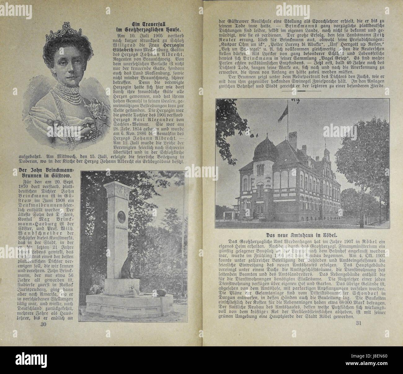 Mecklenburgischer Kalender 1909 028 Stock Photo