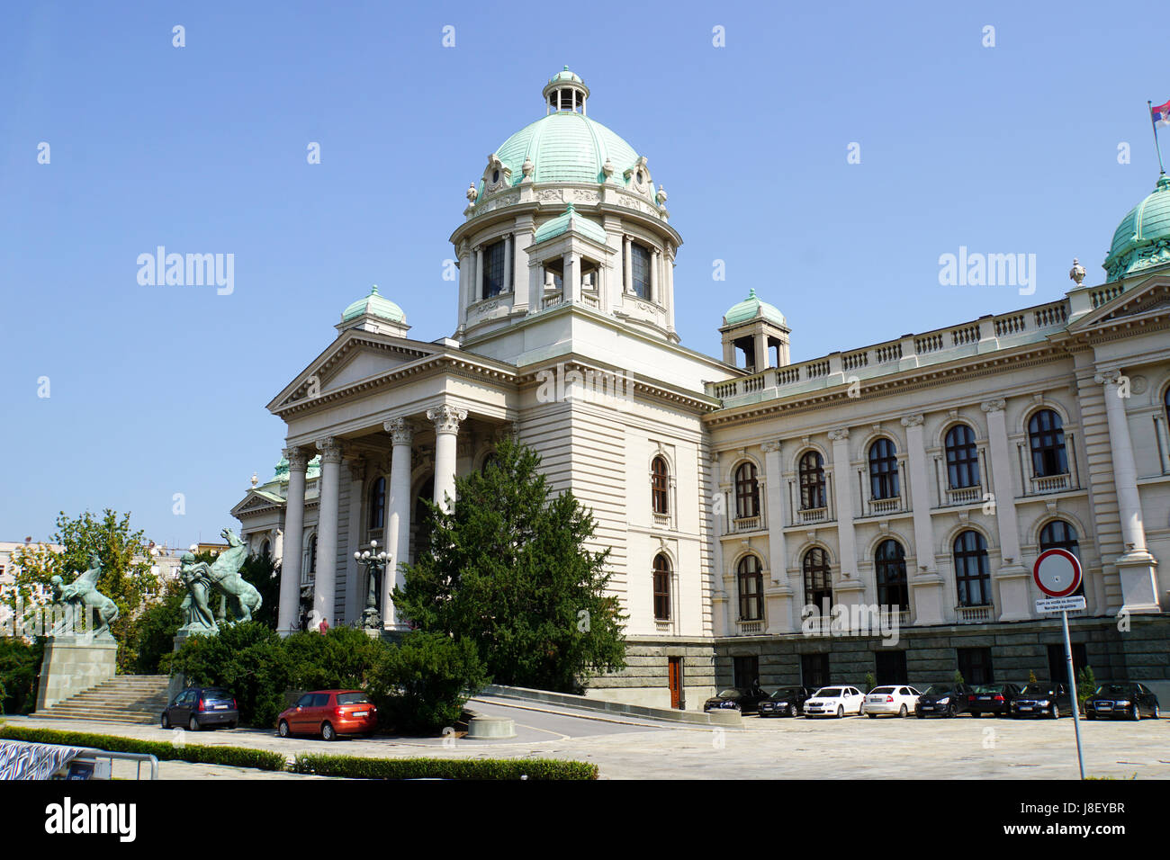 National Assembly building, Belgrade, Serbia - Stock Image