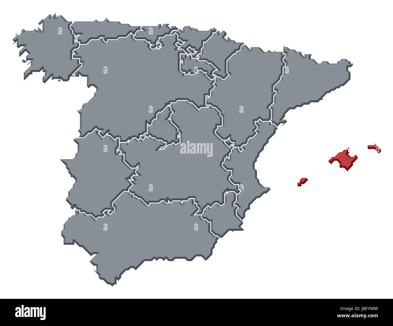 Map Of The World Spain.Spain Map Stock Photos Spain Map Stock Images Alamy