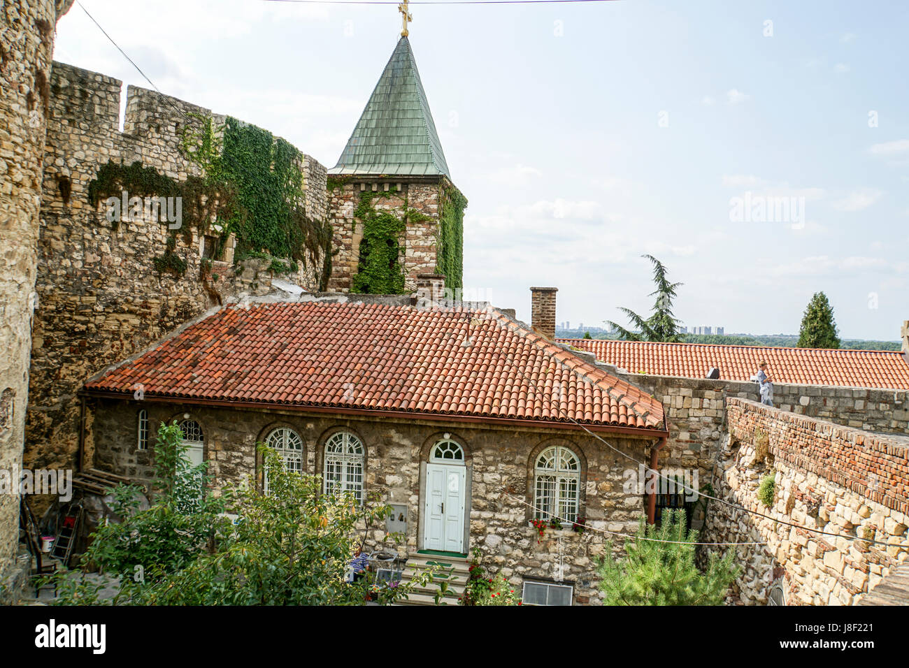 Kalemegdan Fortress, Belgrade, Serbia - Stock Image