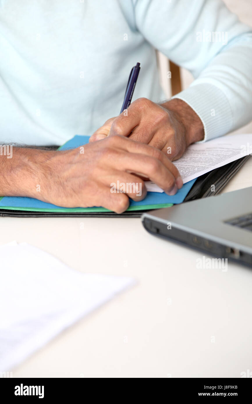 hand, hands, write, wrote, writing, writes, closeup, font, typography, - Stock Image