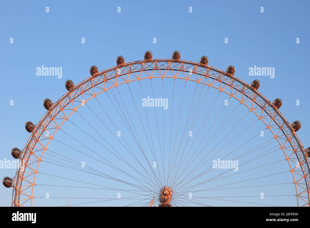 London Eye Ferris Wheel (detail), London, England. Stock Photo