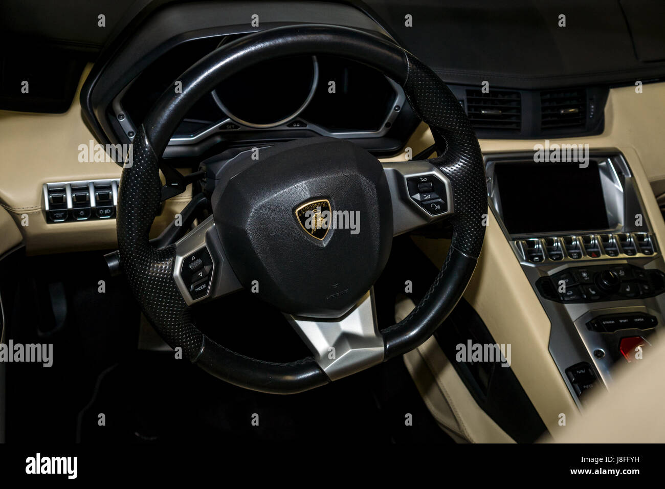 Classic Lamborghini Steering Wheel Stock Photos Classic