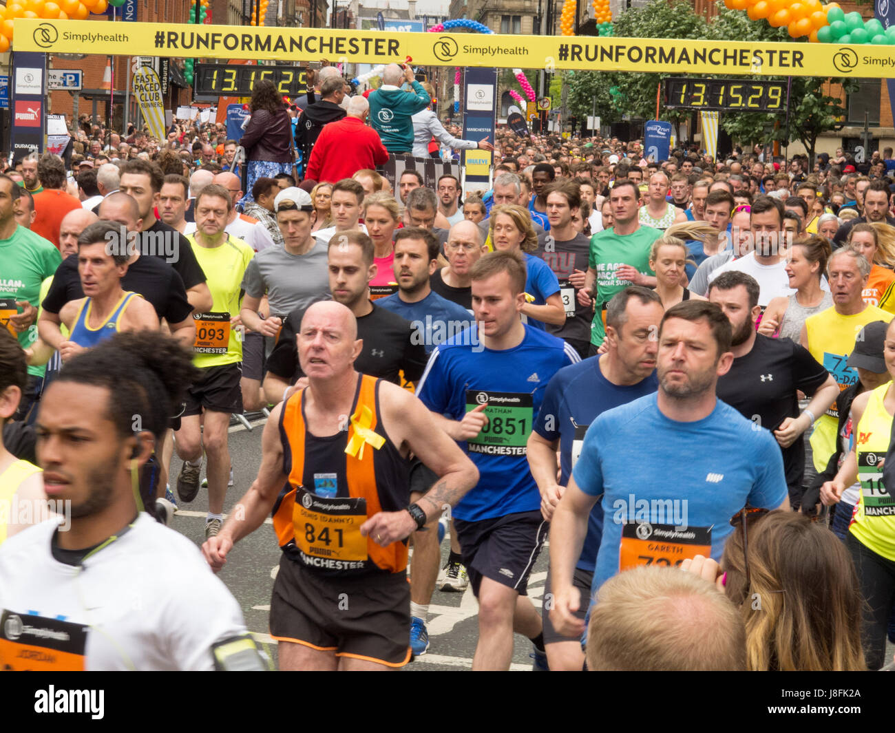 Runners at the Great Manchester Run 2017 - Stock Image