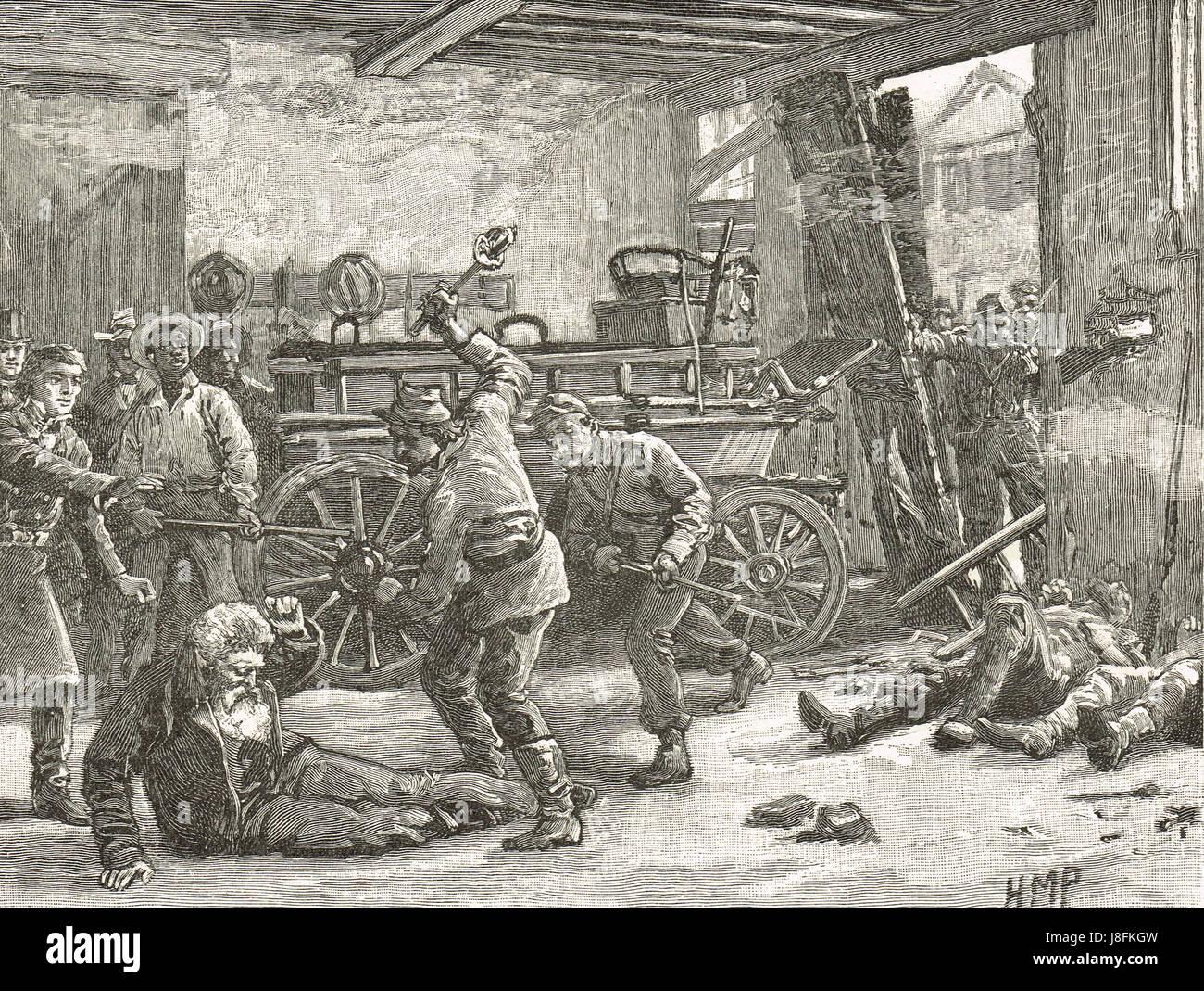 John Brown capture at Harper's Ferry October 18 1859 - Stock Image