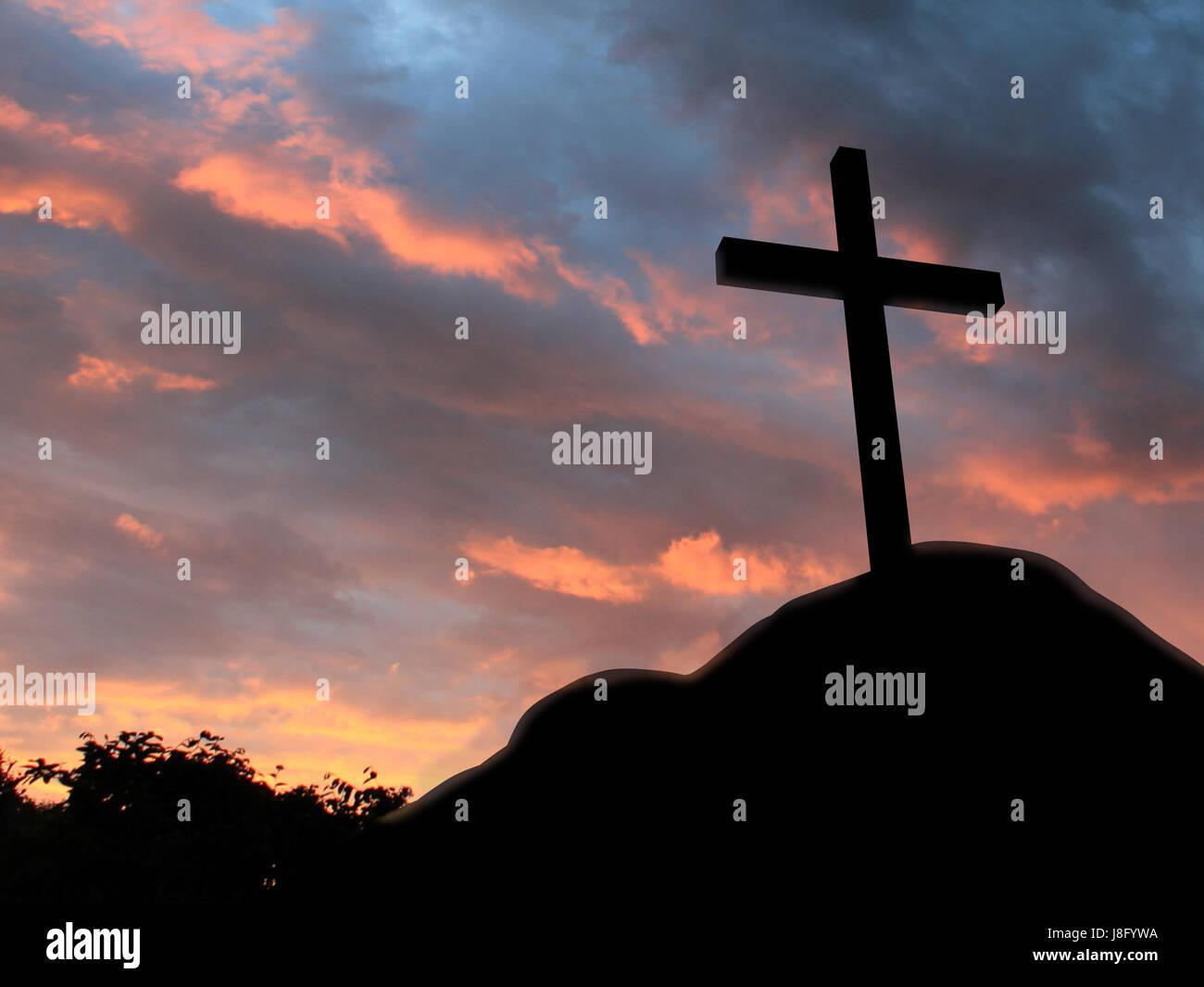 church, death, cloud, cross, bible, crucifixion, biblical
