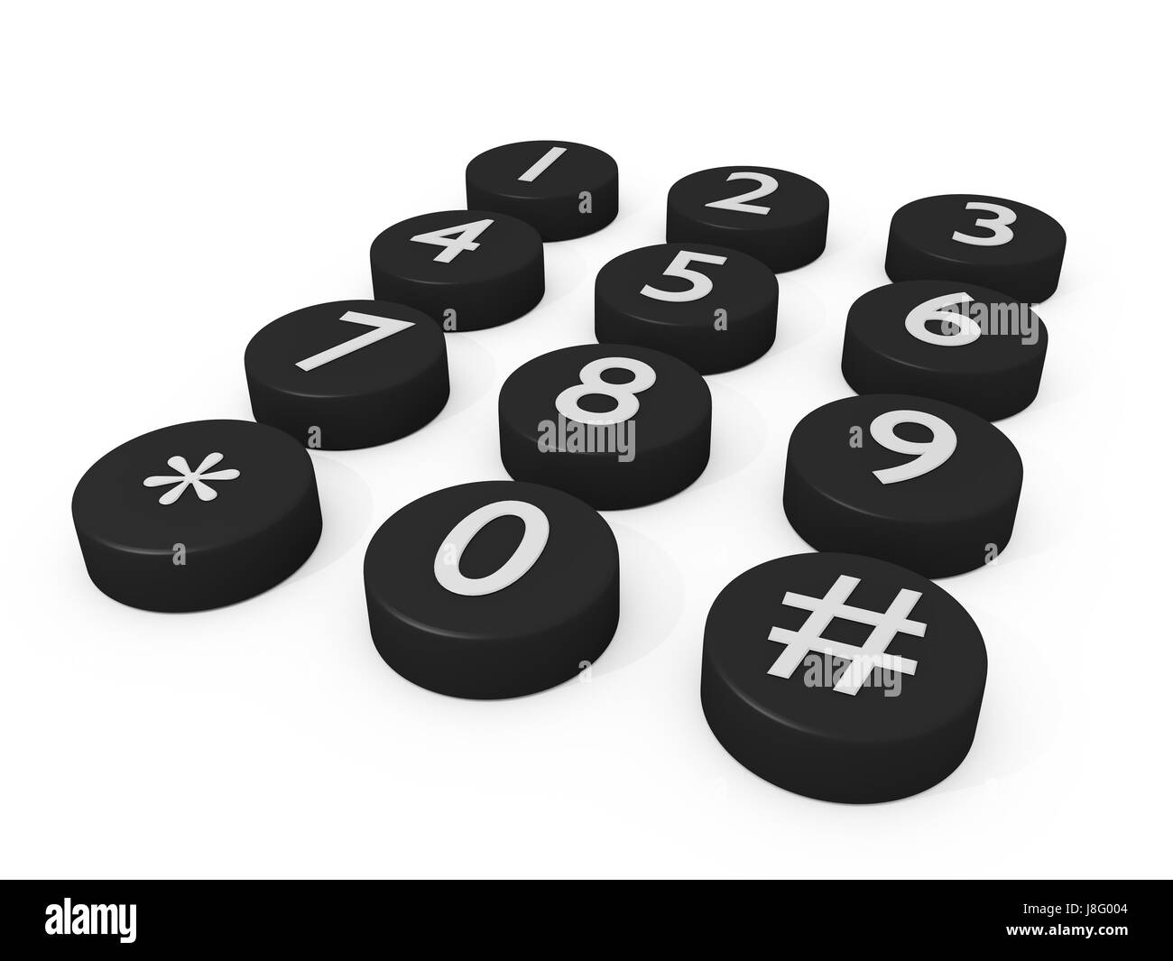 telephone, phone, one, telephonic, numeric, numeral, buttons, keys, numbers, - Stock Image