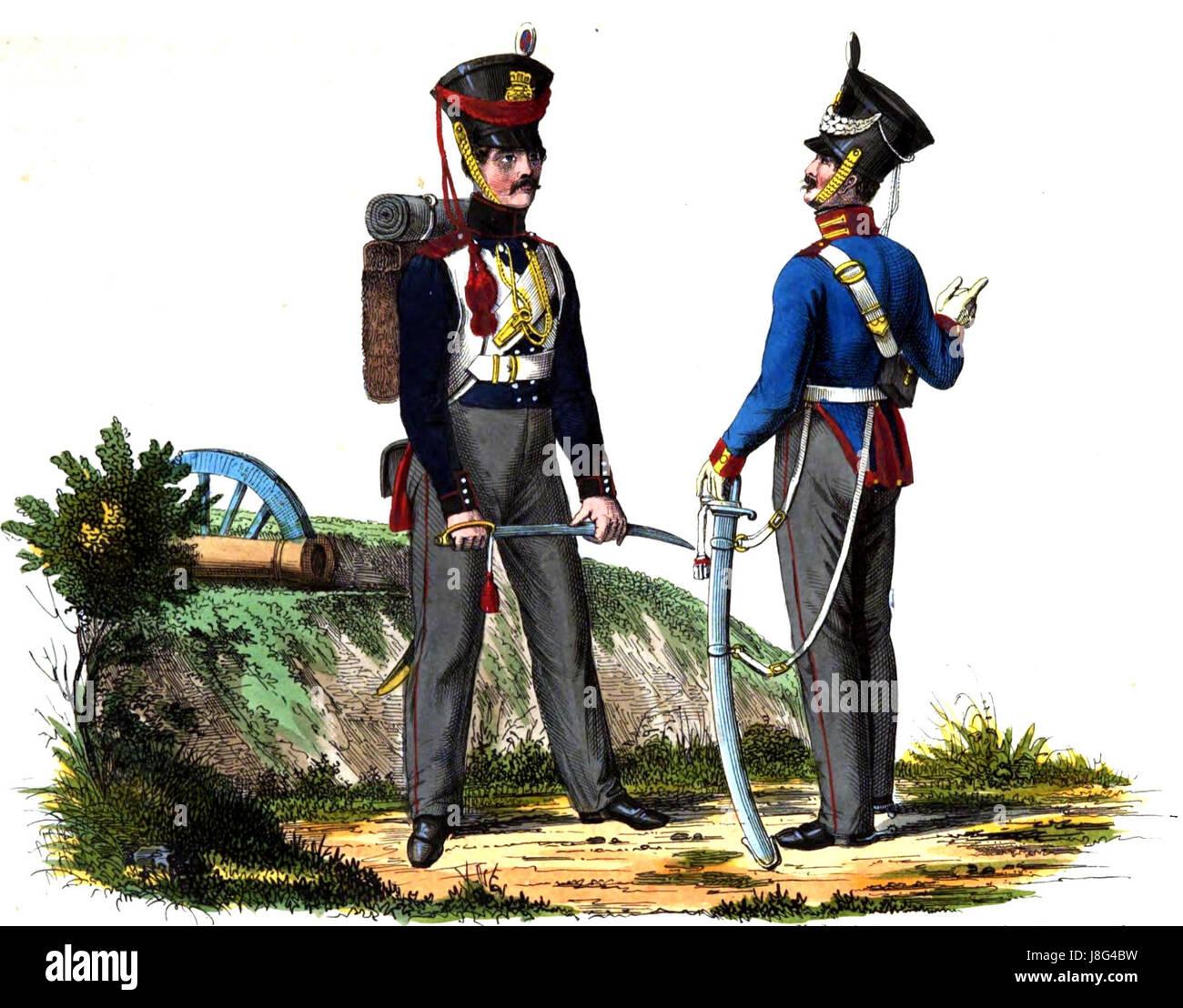 Mecklenburger Dragoner 1840er Jahre Stock Photo