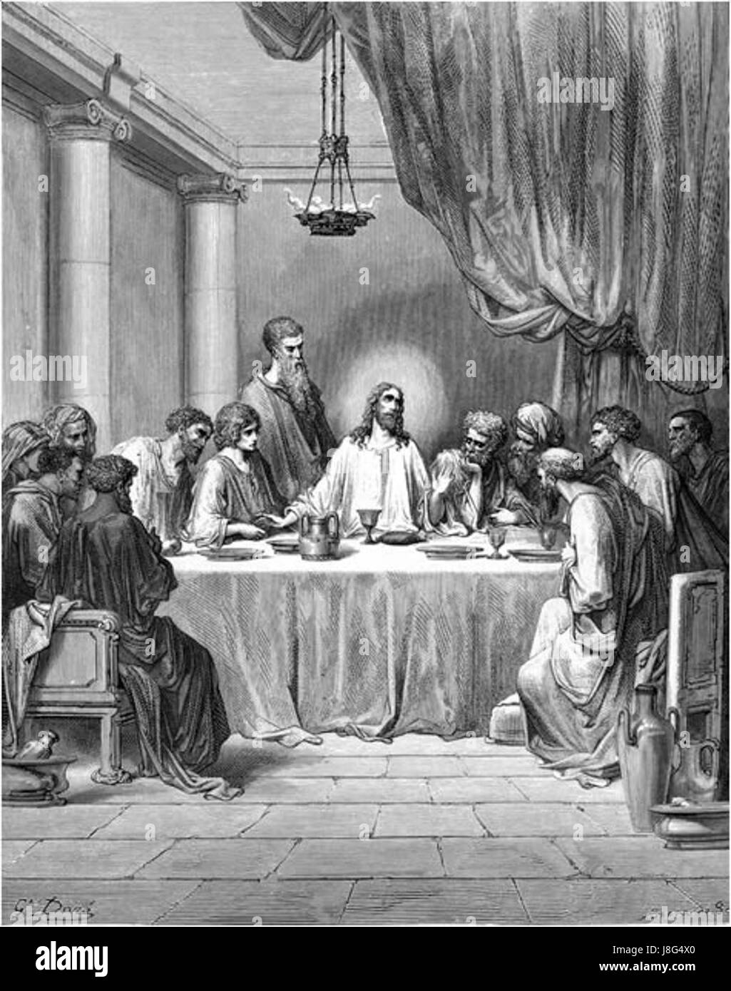 Jesus And Last Supper Black And White Stock Photos Images Alamy