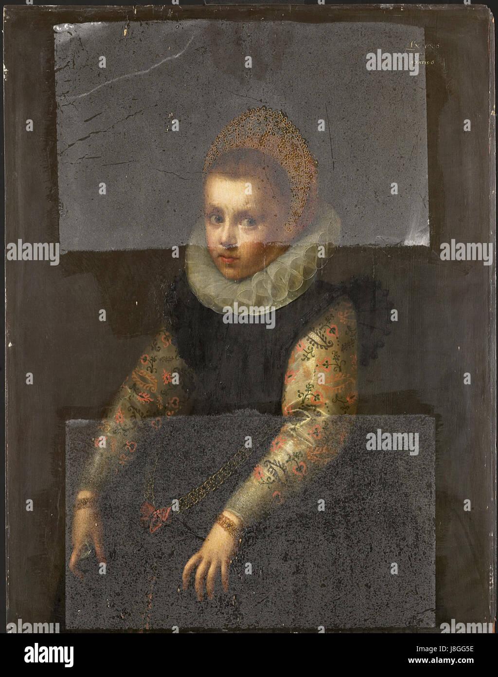 Een zuster van Catharina Fourmenois Rijksmuseum SK A 2071 - Stock Image