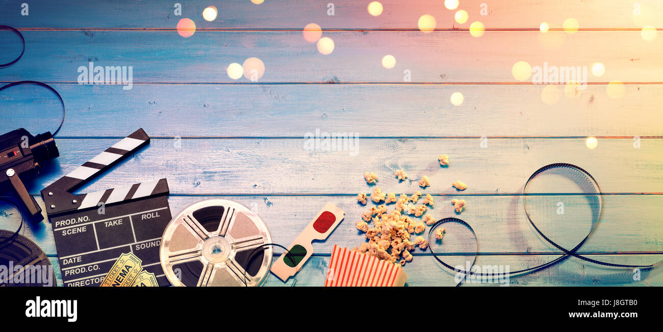 cinema film background vintage effect camera with