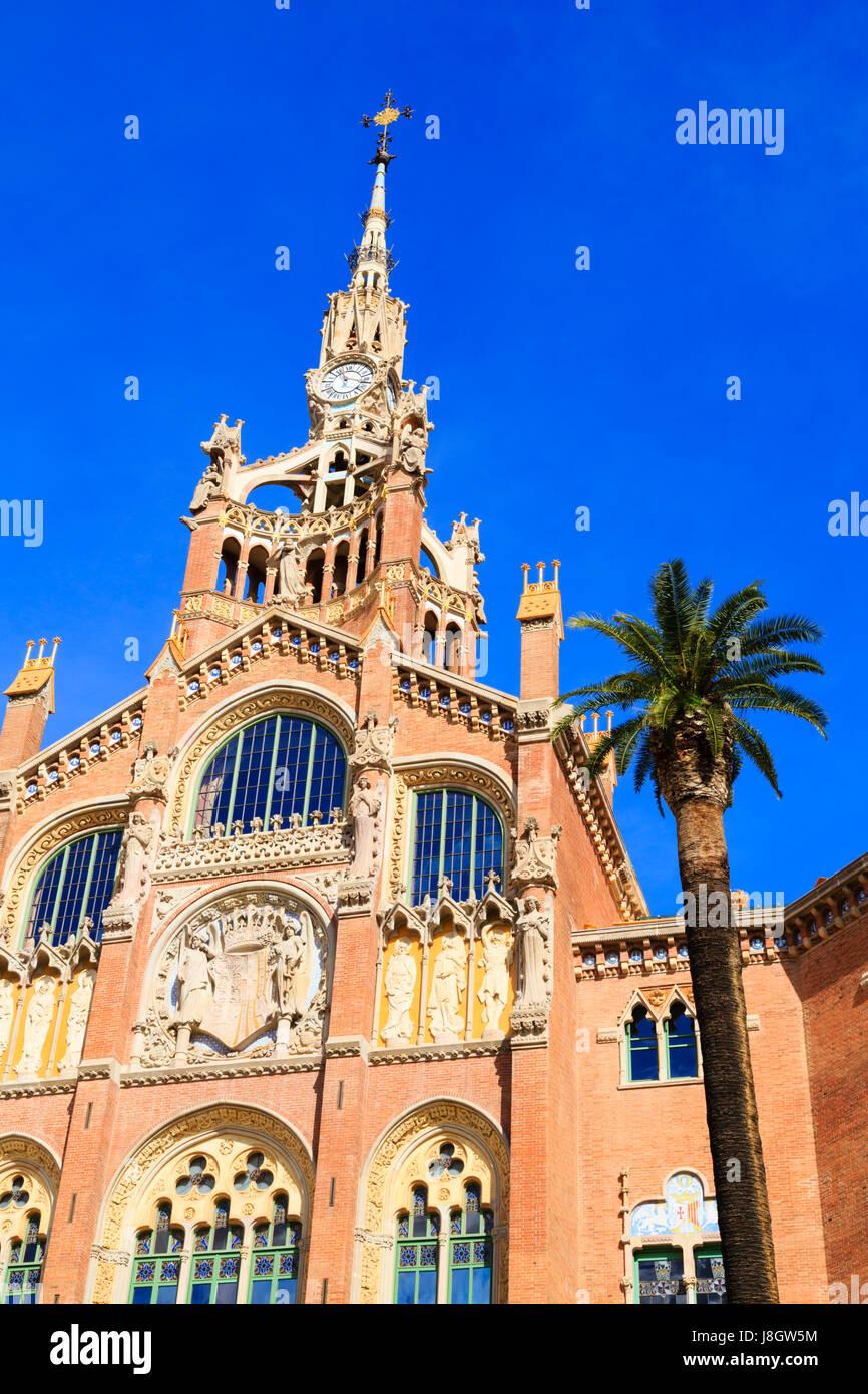 Hospital de la Santa Creu, Barcelona, Catalunya, Spain - Stock Image