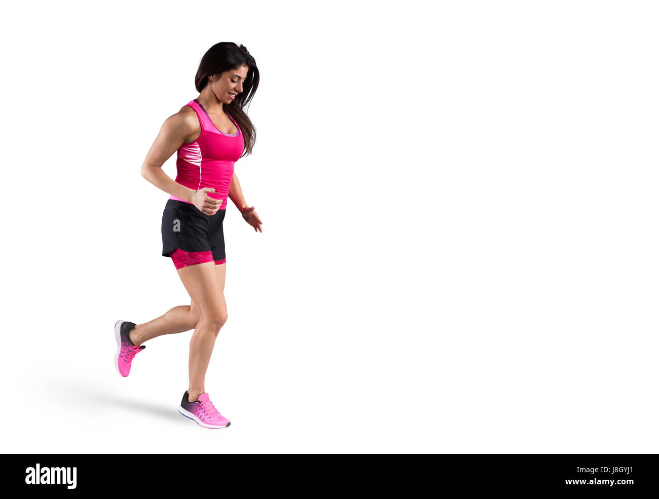 Athletic woman runner - Stock Image