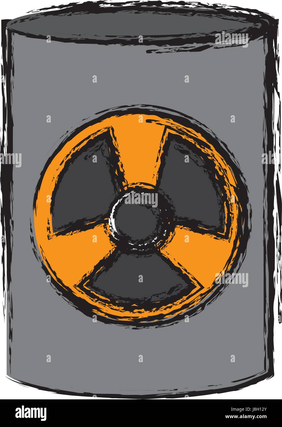 nuclear sign icon - Stock Vector