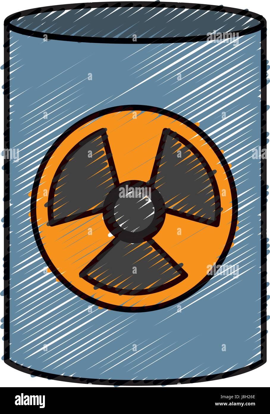 nuclear barrel icon - Stock Vector