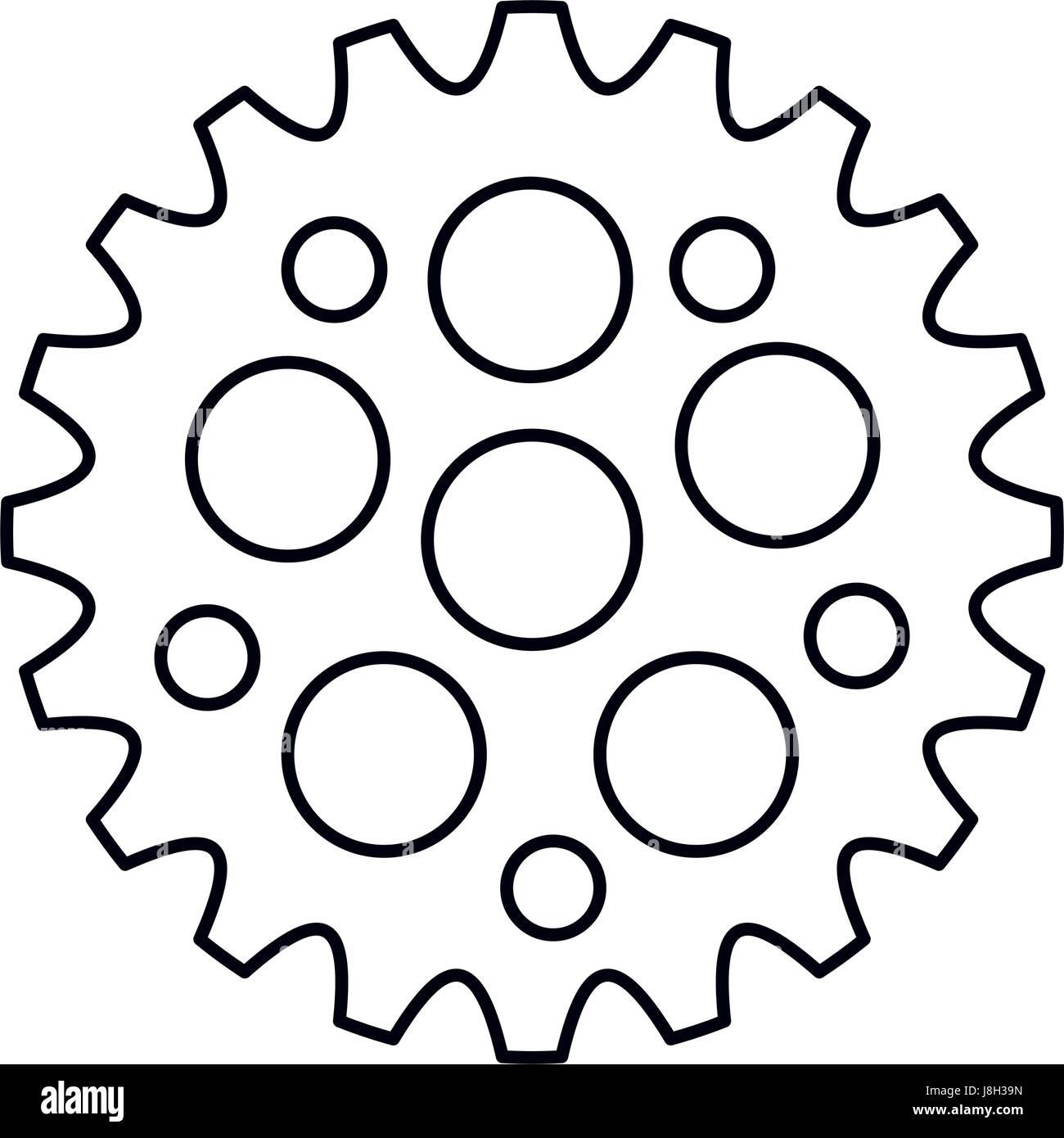 bike gears design - Stock Image