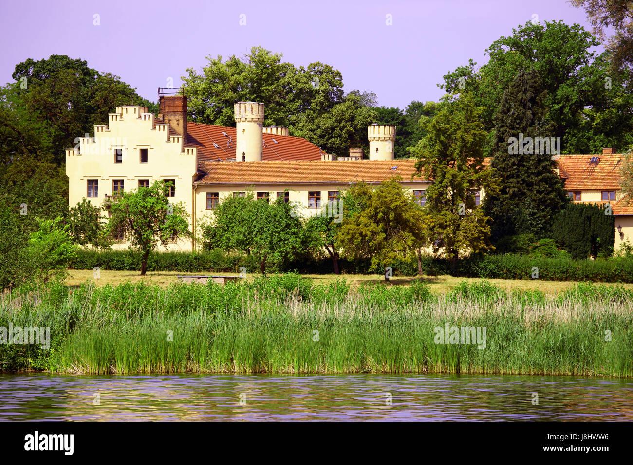 idyll, luxury hotel, nature, brandenburg, germany, german federal republic, Stock Photo
