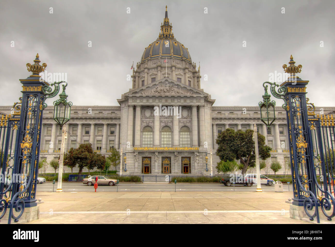 hall, city, town, california, government, hall, city, town, monument, dome, - Stock Image