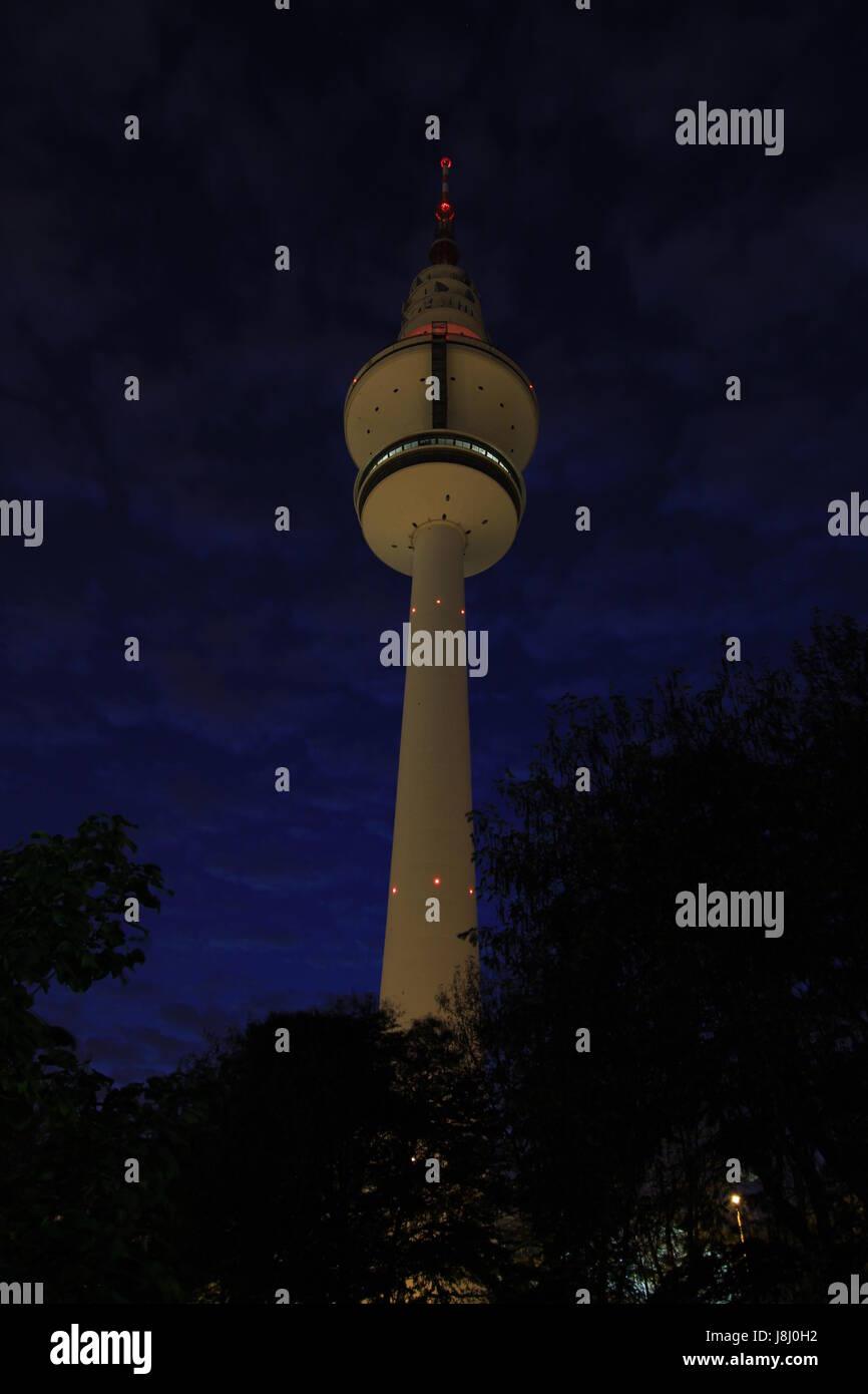 fernsehturm hamburg - Stock Image
