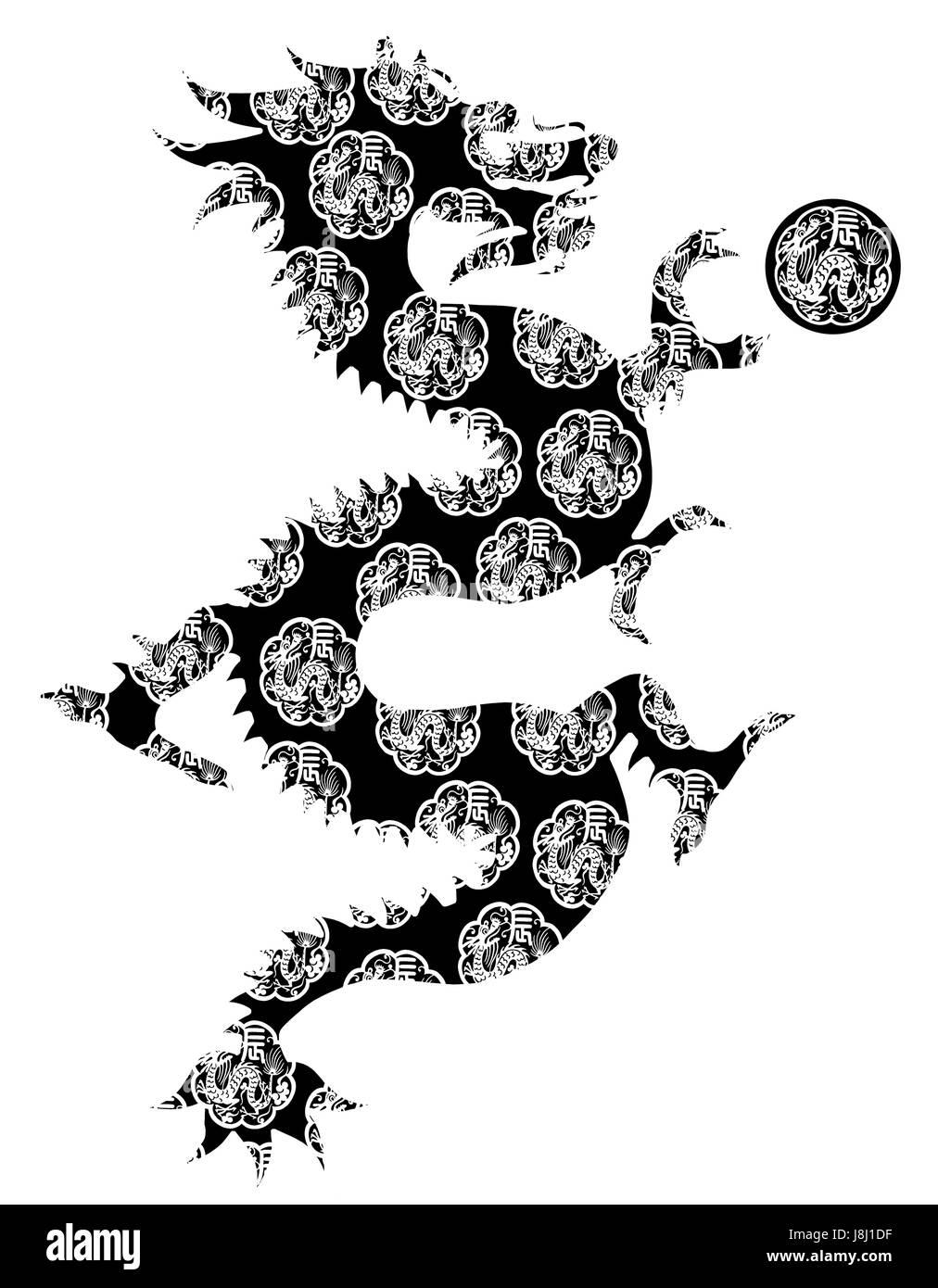 new, dragon, chinese, zodiac, horoscope, mythical, longevity