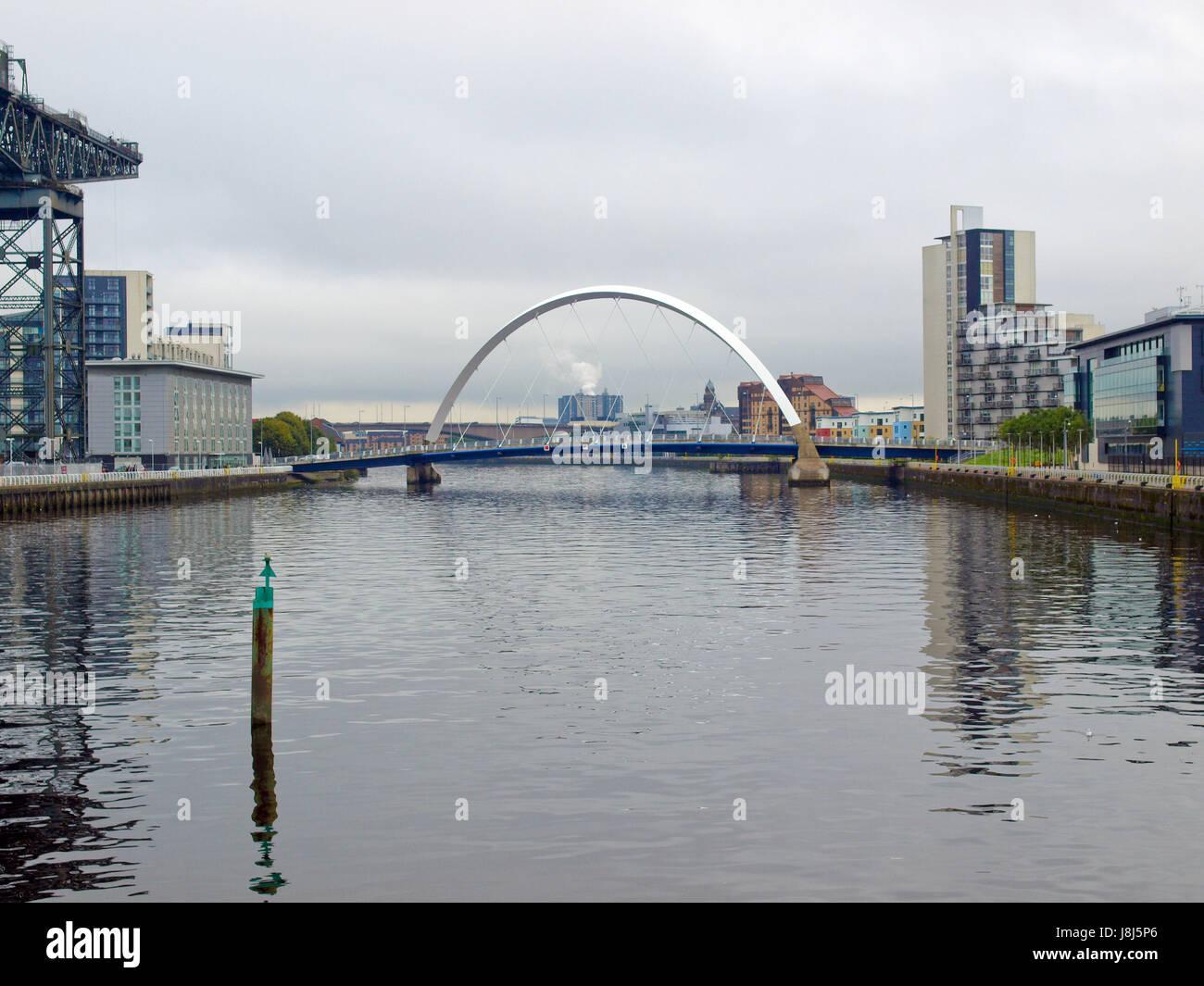city, town, bridge, centre, center, britain, glasgow, city, town, bridge, - Stock Image