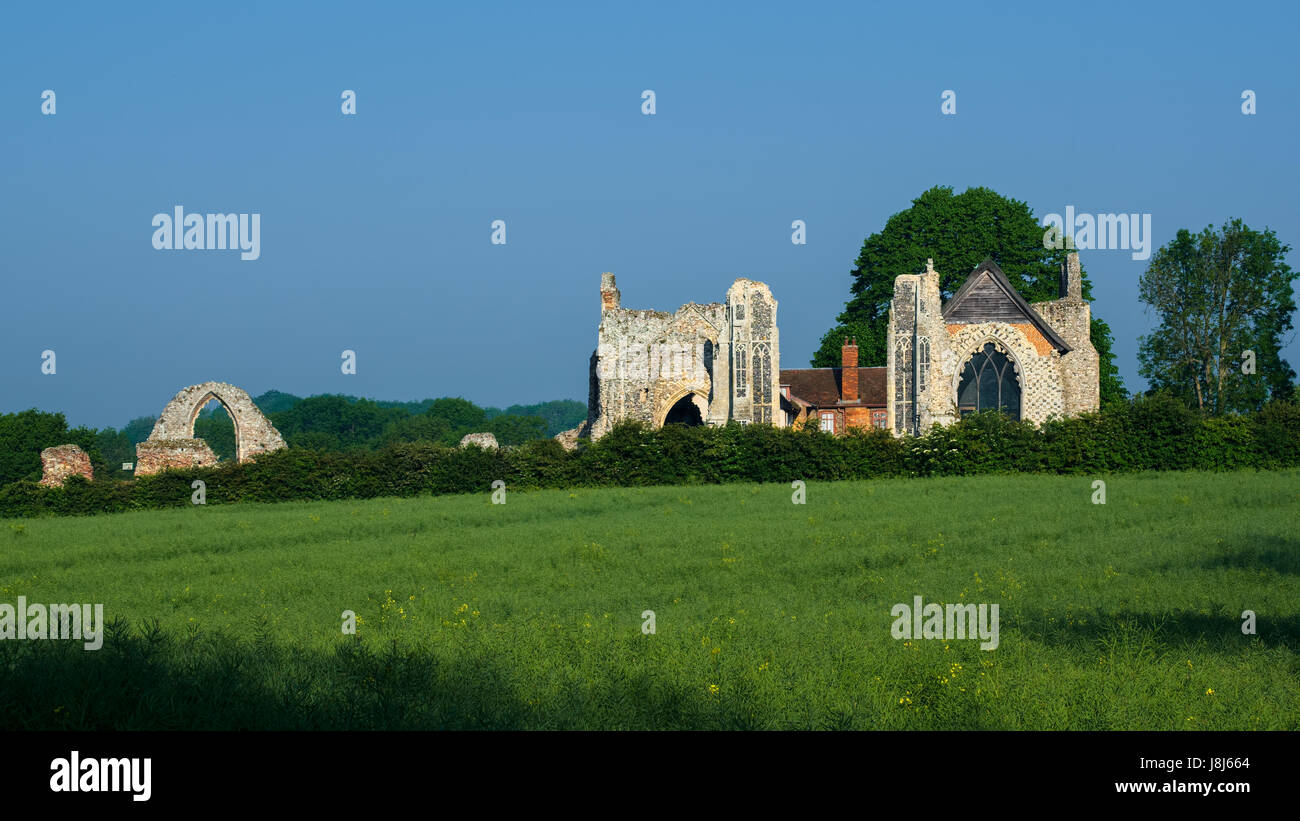 The Ruins of Leiston Abbey in Leiston Suffolk on May 25, 2017 - Stock Image