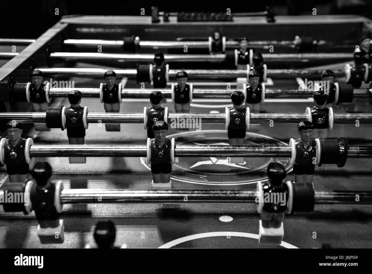 Foosball Table - Stock Image
