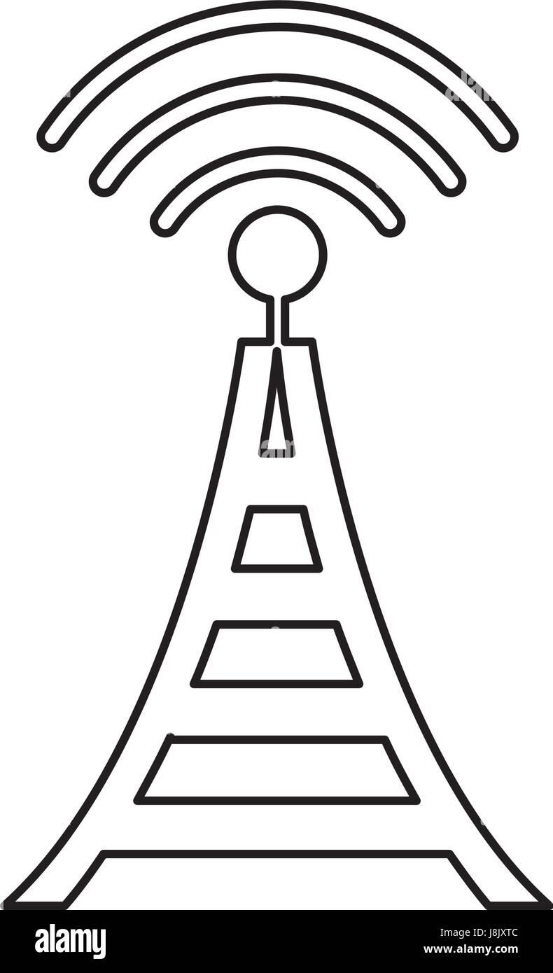 radio tower broadcast transmission icon Stock Vector Art