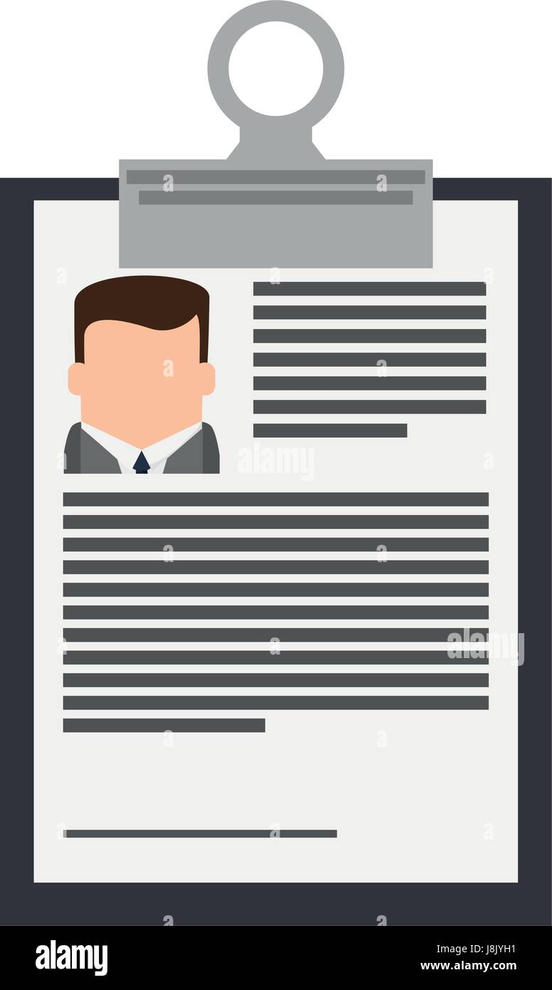 Resume Or Curriculum Vitae Cv Icon Image Stock Vector Art