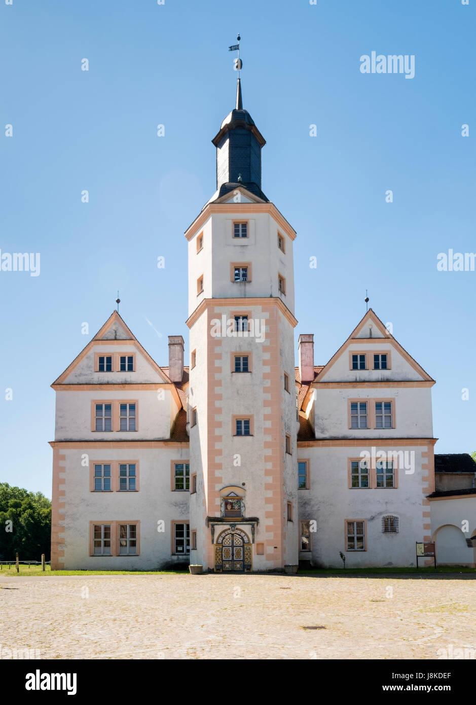 Demerthin Renaissance Castle, Brandenburg, Germany - Stock Image