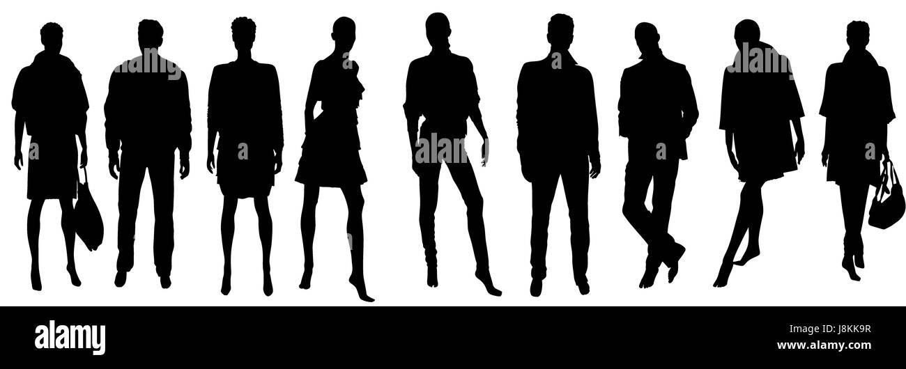 woman, profile, humans, human beings, people, folk, persons, human, human - Stock Image