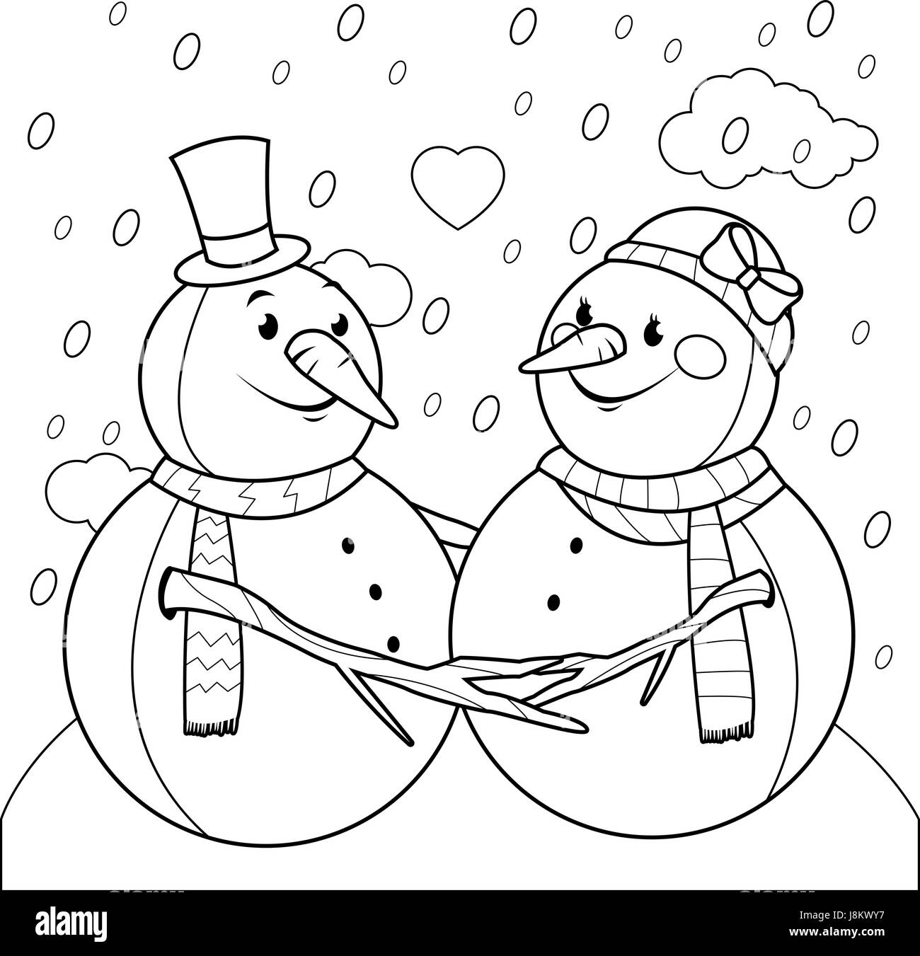 coloring pages of snowman.html