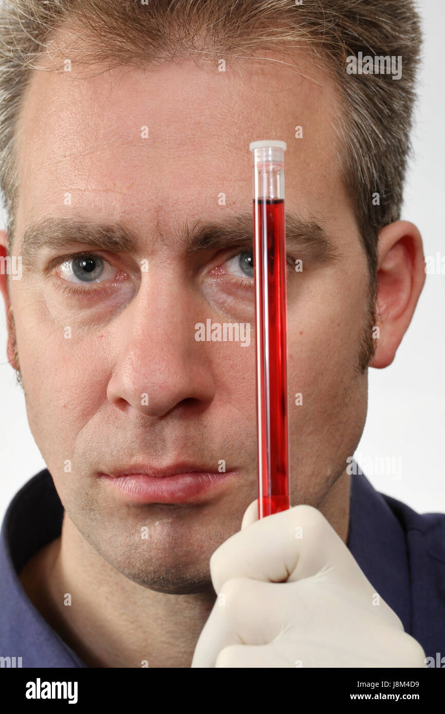 blood analysis - Stock Image