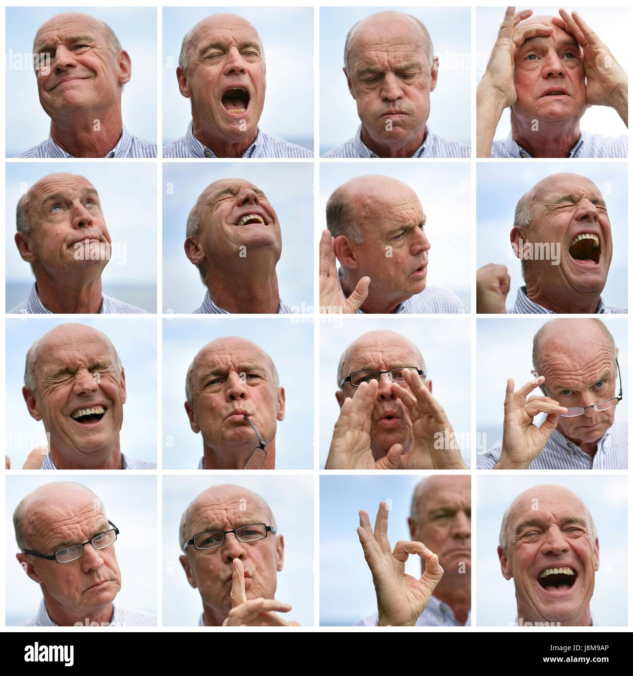 gesture, laugh, laughs, laughing, twit, giggle, smile, smiling, laughter, - Stock Image