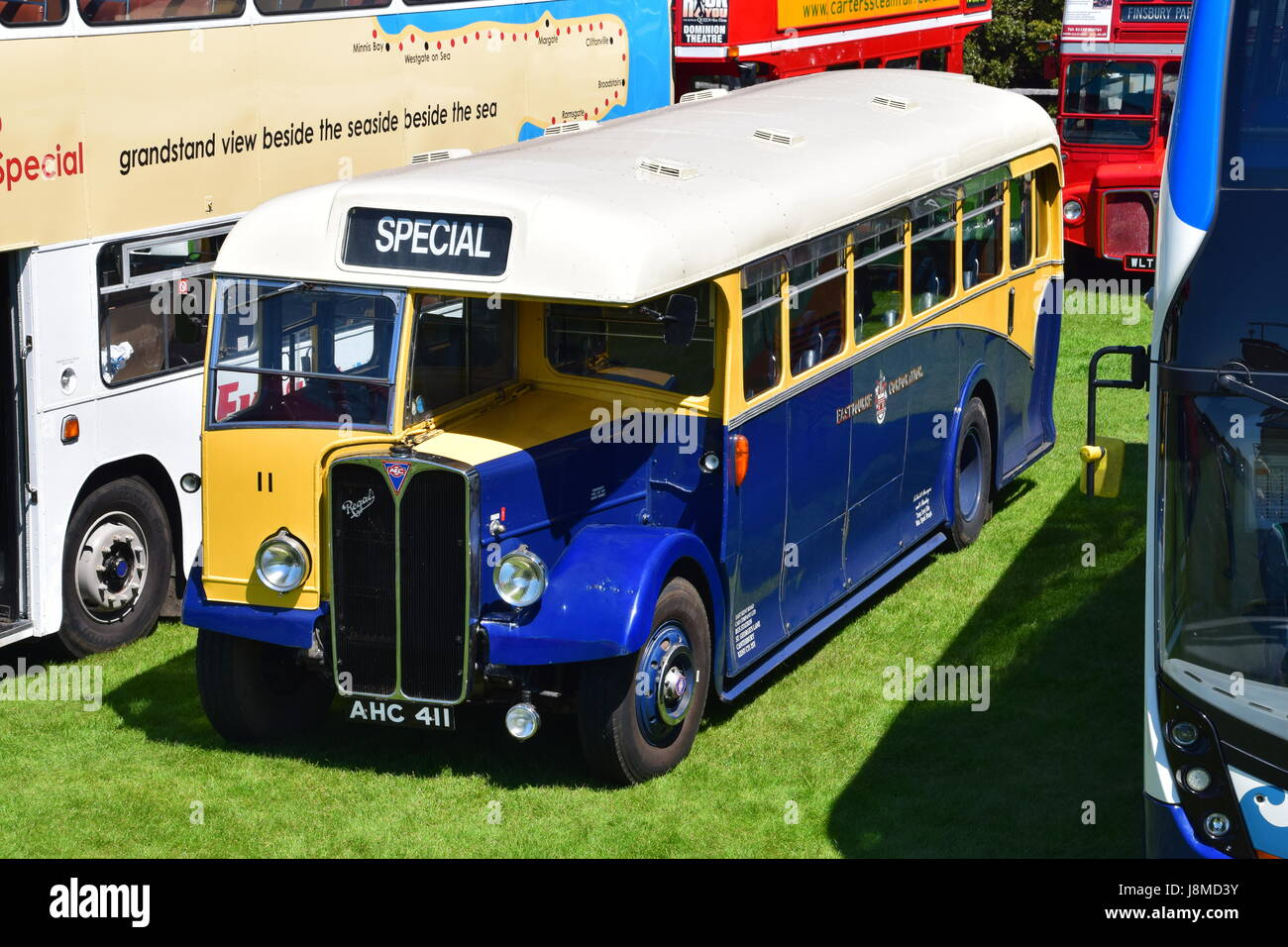AHC411, 1950 Eastbourne Corporation AEC Regal III 6821A with East Lancs DP30R body, fleet number 11, 25th Annual - Stock Image