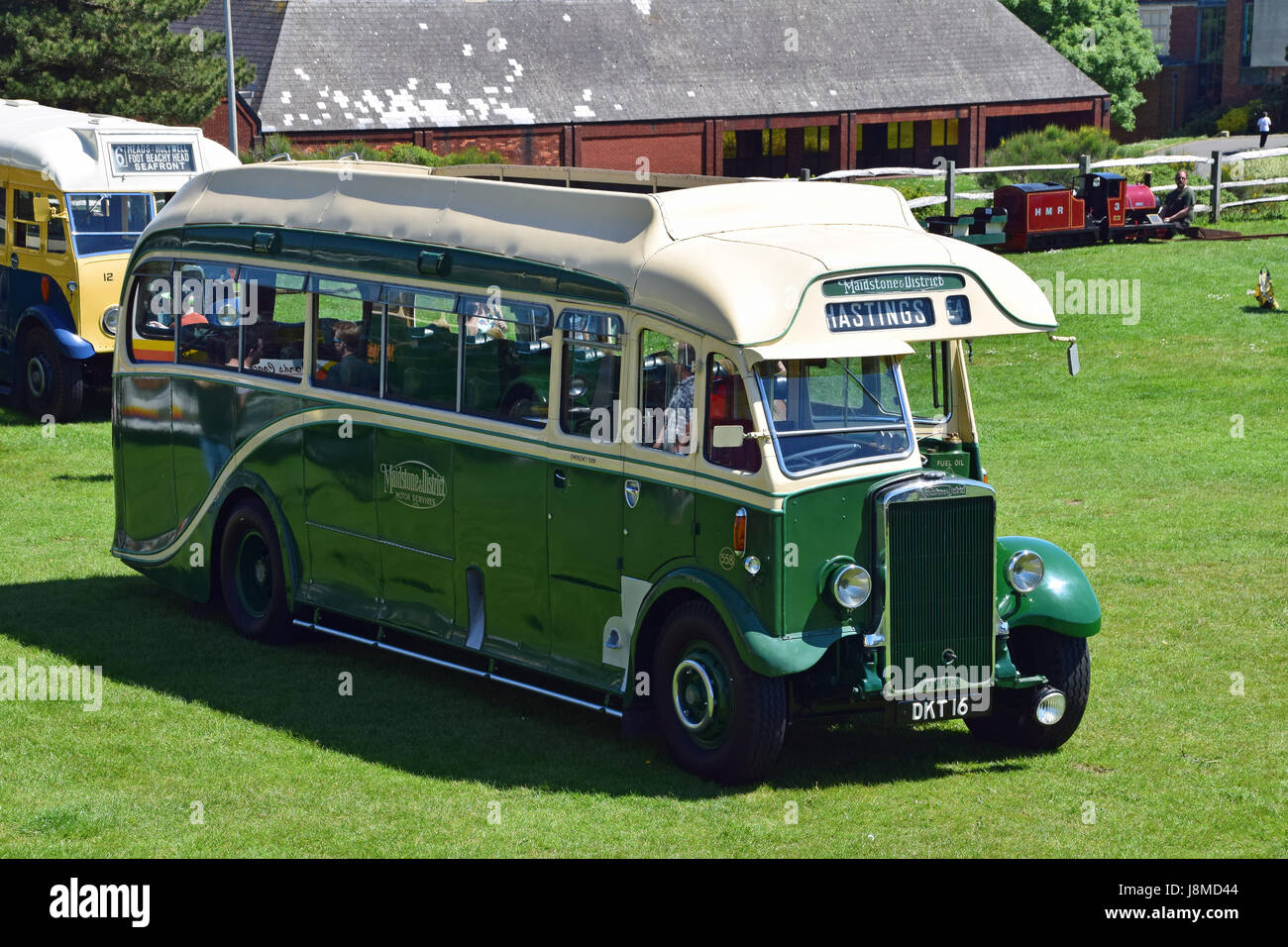 DKT16, CO558, Maidstone & District Leyland Tiger TS7 Harrington at Hastings Trolleybus Restoration Group 25th - Stock Image