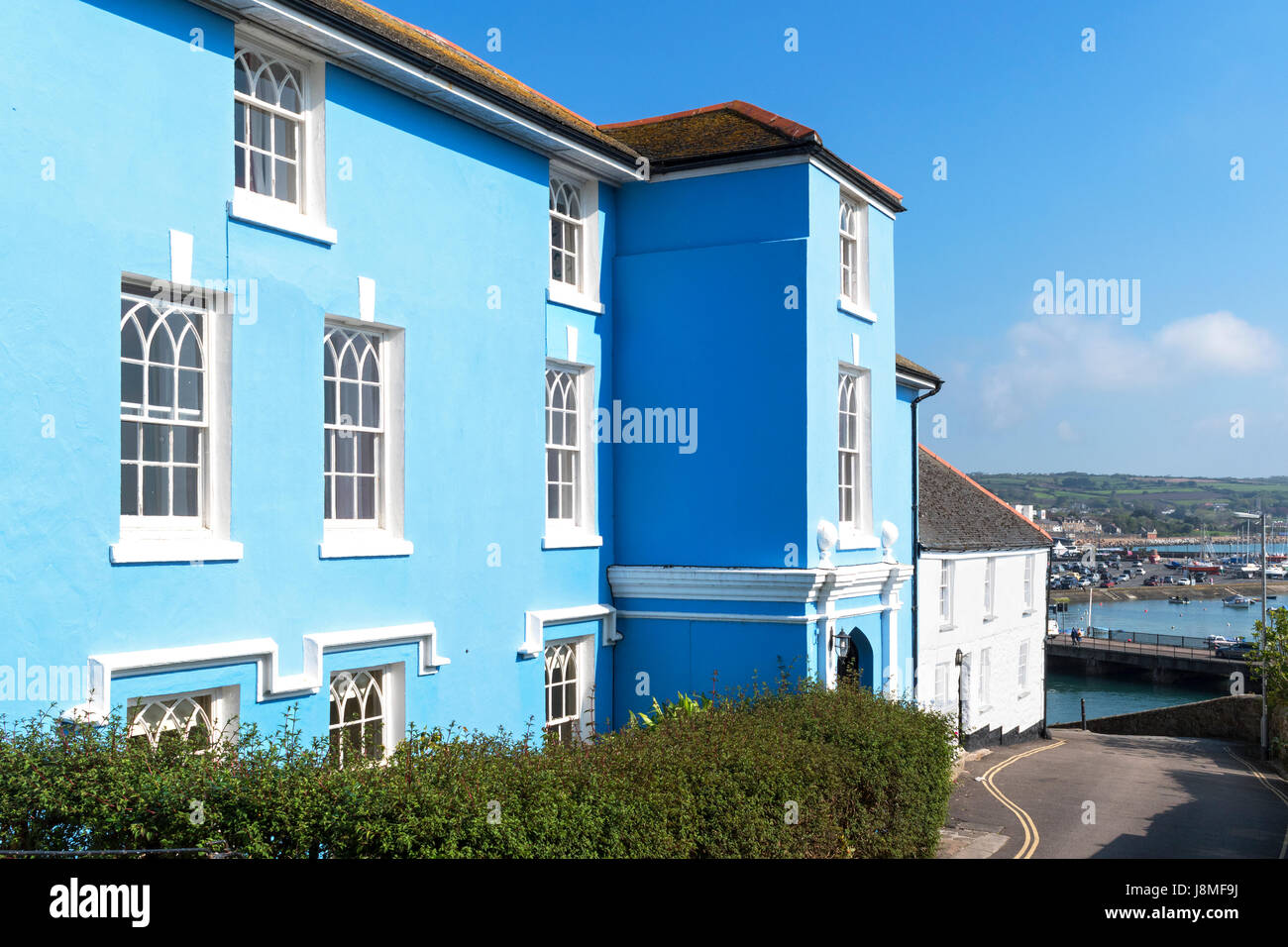 edwardian, victorian, architecture homes in penzance, cornwall, england, britain, uk, - Stock Image