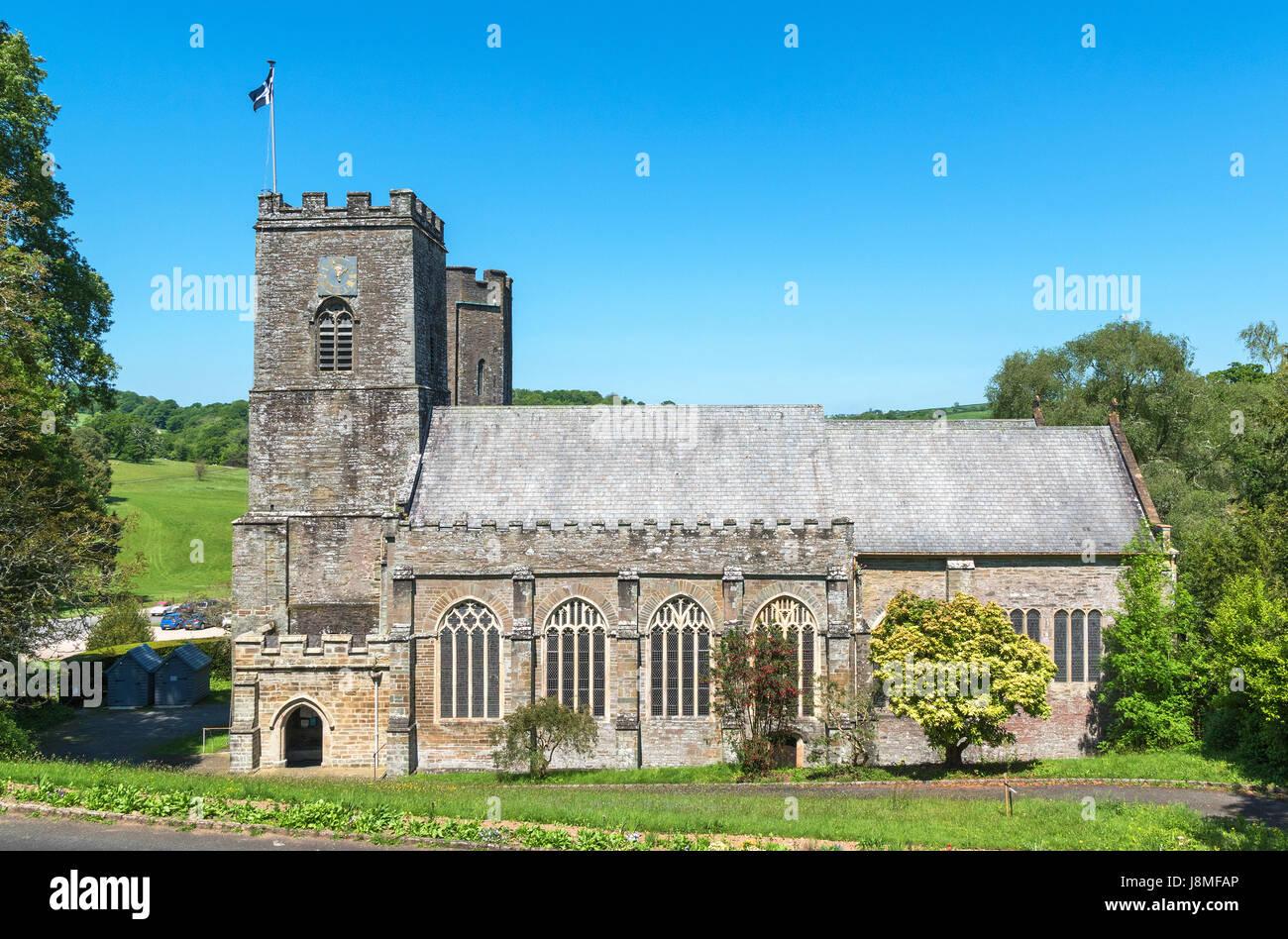 st.germans priory, parish village church, st.germans, cornwall, england, britain, uk - Stock Image