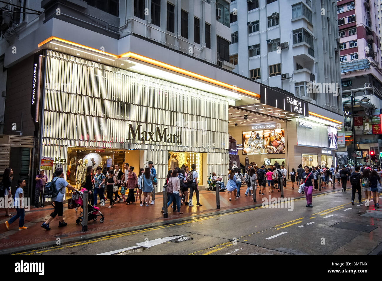 Max Mara's flagship store Fashion Walk Hong Kong - Stock Image