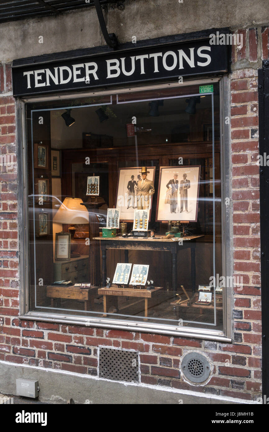 Tender Buttons Emporium, NYC, USA - Stock Image